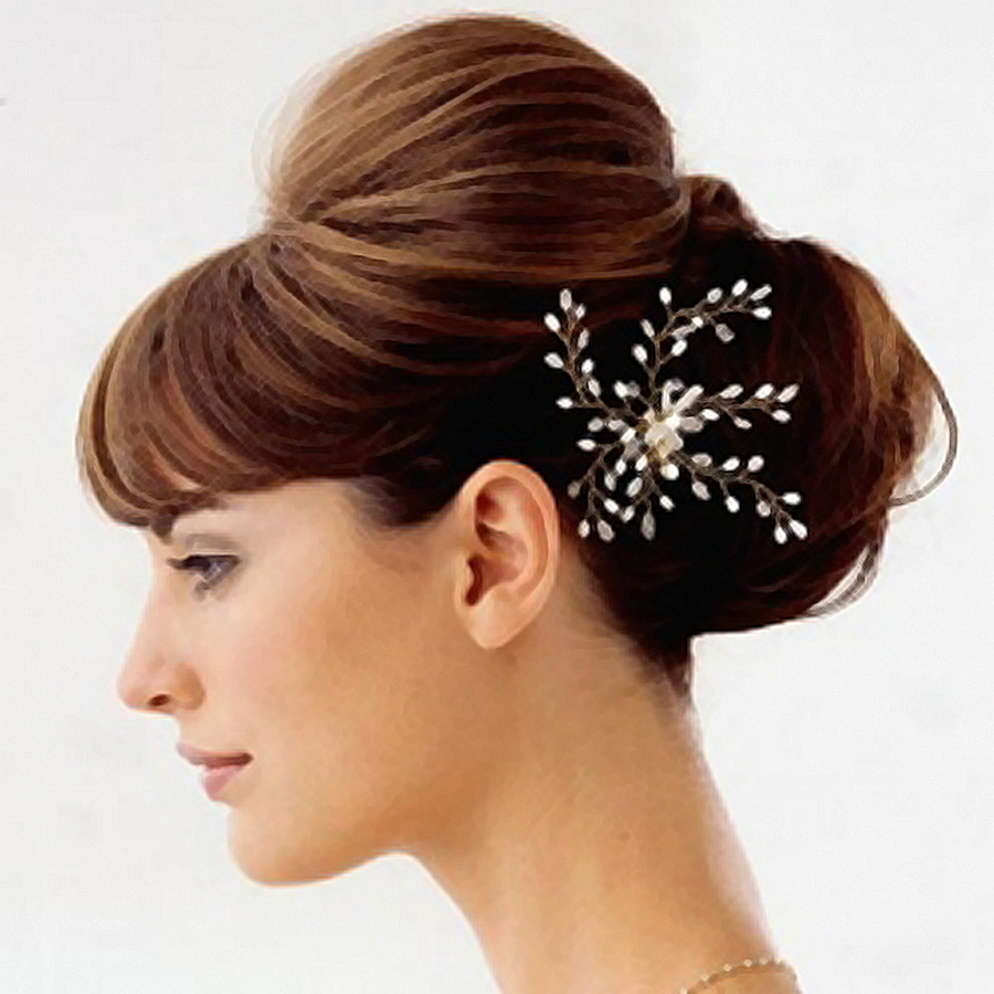 Trendy Pompadour Bun Hairstyles For Wedding In Hairstyle Updo Bun Beauty Parlour – Hairstyle Png Download – (View 17 of 20)