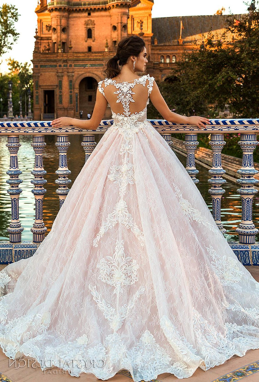 Trendy Sleek And Big Princess Ball Gown Updos For Brides Inside Beautiful Wedding Dresses From The 2017 Crystal Design Collection (View 13 of 20)