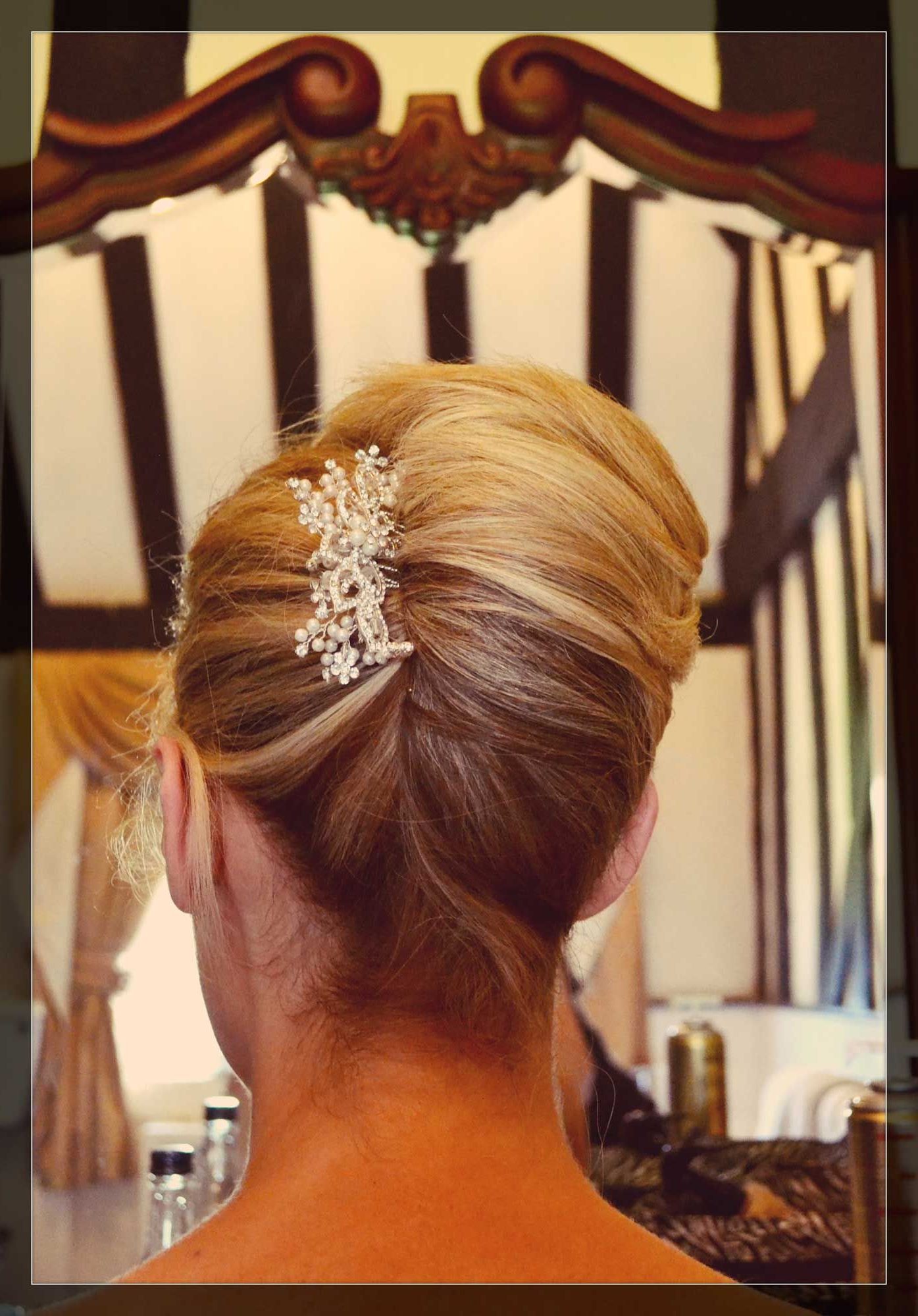 Trendy Sleek Low Bun Rosy Outlook Wedding Updos With Regard To French Pleat Wedding Hair Bridal (View 16 of 20)