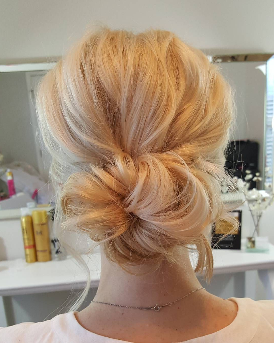 Trendy Wedding Low Bun Bridal Hairstyles Intended For Pinmegan Maccaughey On Hair For Weddings (View 16 of 20)