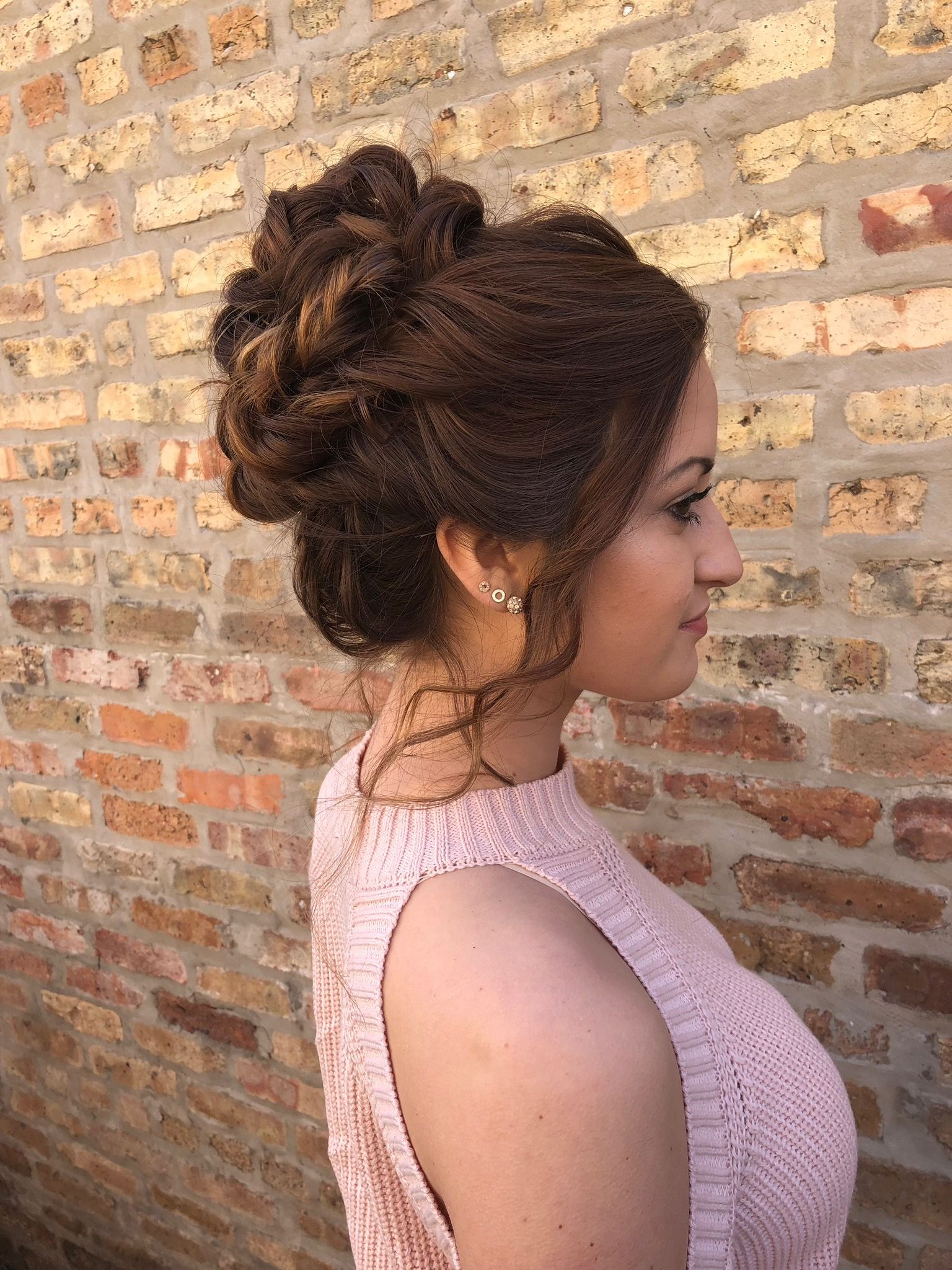 Updo Style For Weddings Regarding Recent Subtle Curls And Bun Hairstyles For Wedding (View 17 of 20)