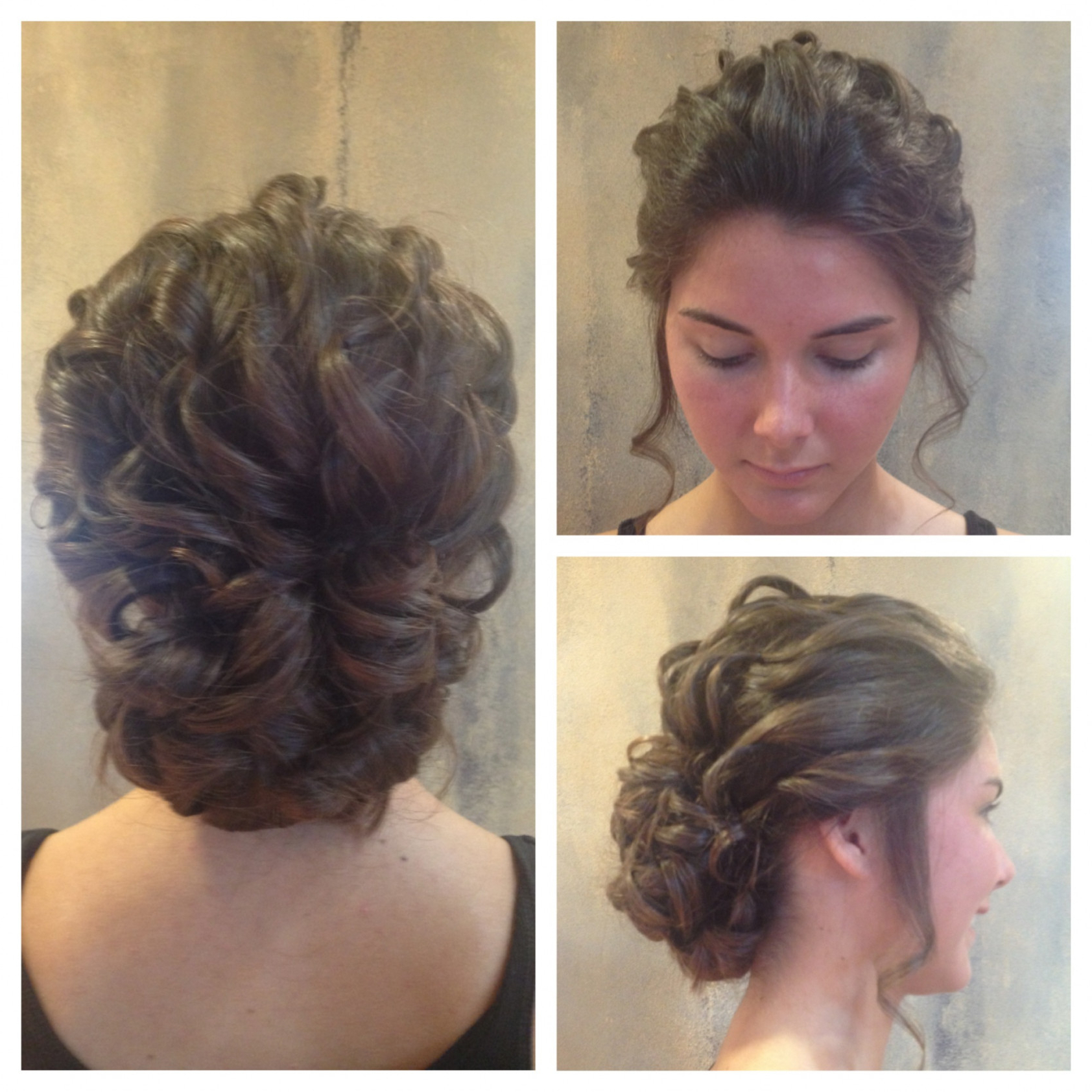 Useful Curly Bun Hairstyles Wedding For Updokatie Loose Curls Intended For Famous Loose Curls Hairstyles For Wedding (View 16 of 20)