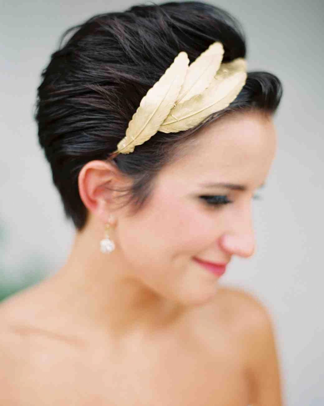 Wedding And Bridal For Preferred Short Wedding Hairstyles With A Swanky Headband (Gallery 2 of 20)