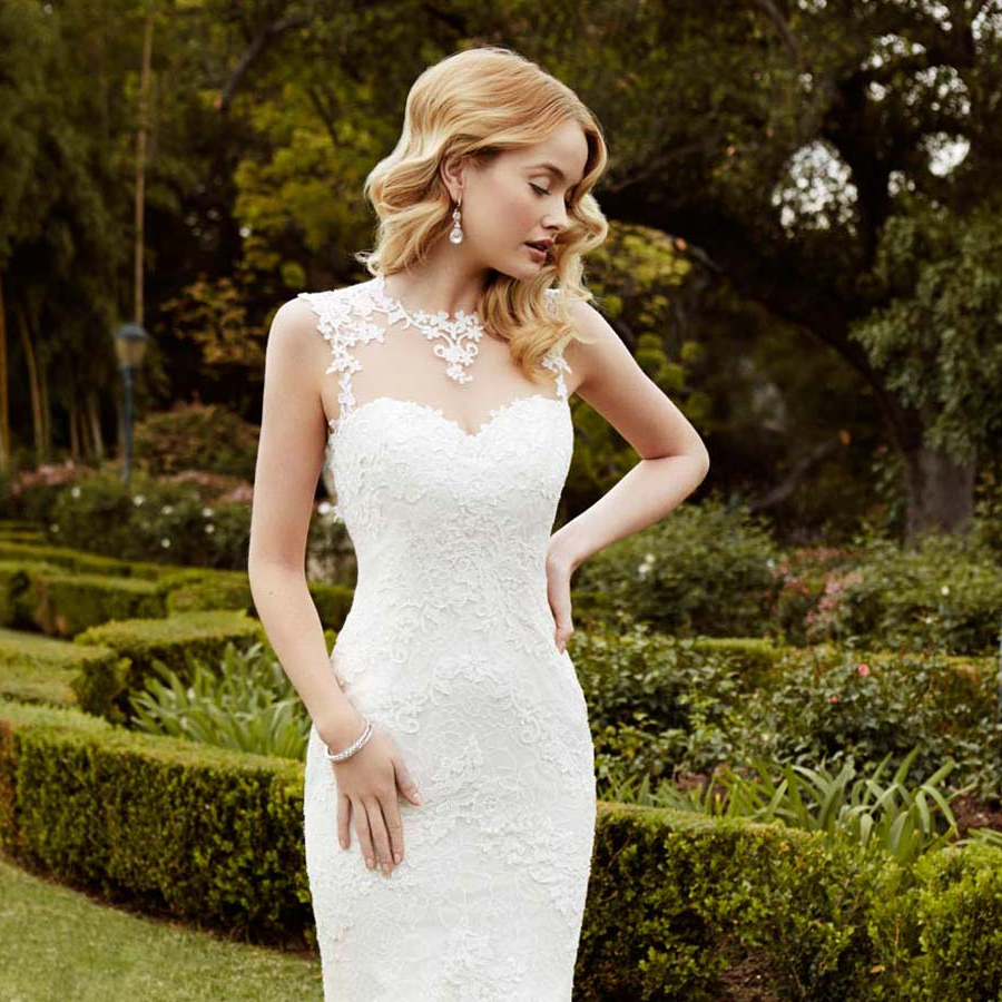 Wedding Dresses With Illusion Necklines: 27 Of Our Favourite Styles Within Most Popular Sleek And Big Princess Ball Gown Updos For Brides (View 17 of 20)