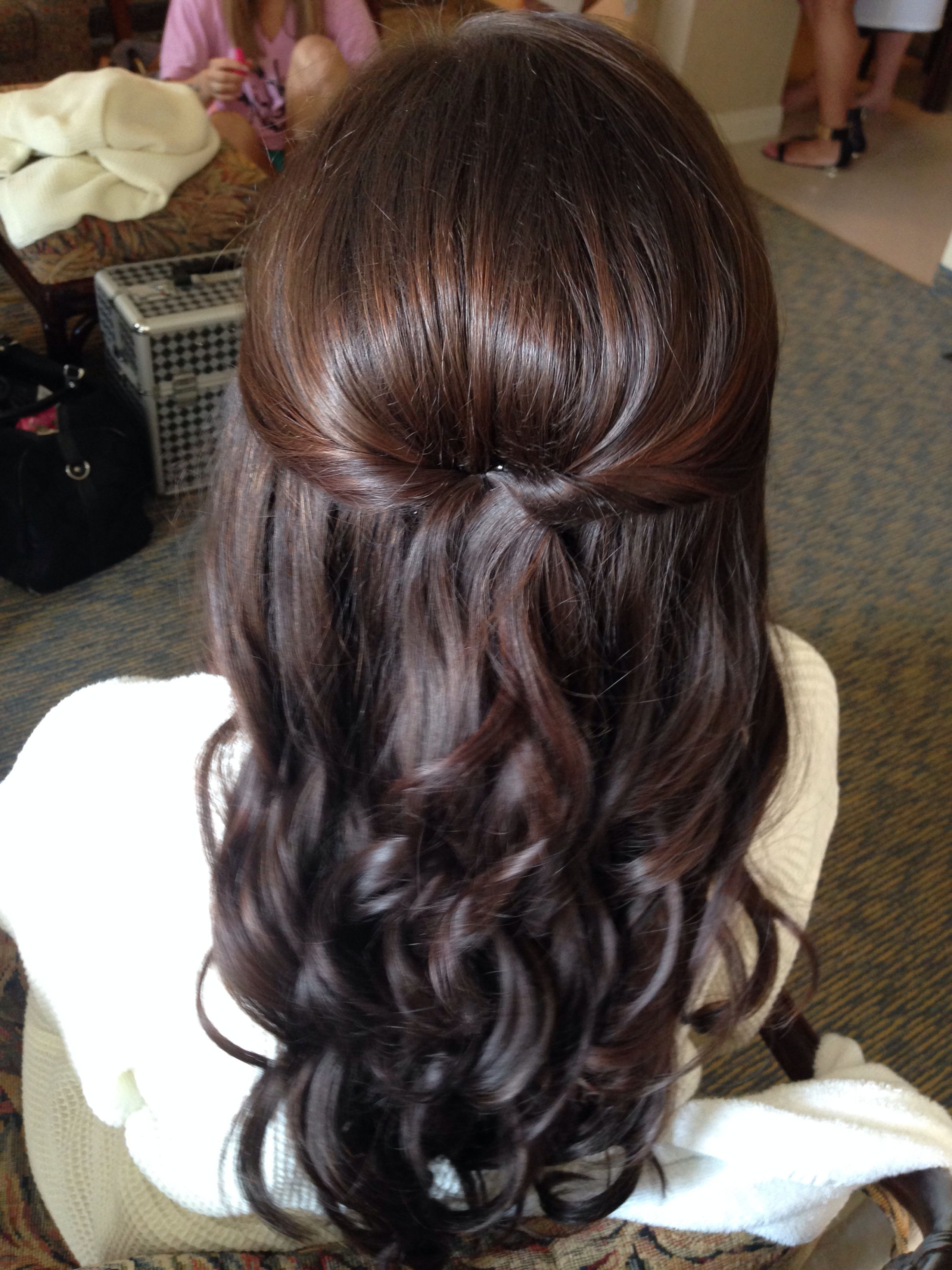 Featured Photo of Tied Back Ombre Curls Bridal Hairstyles