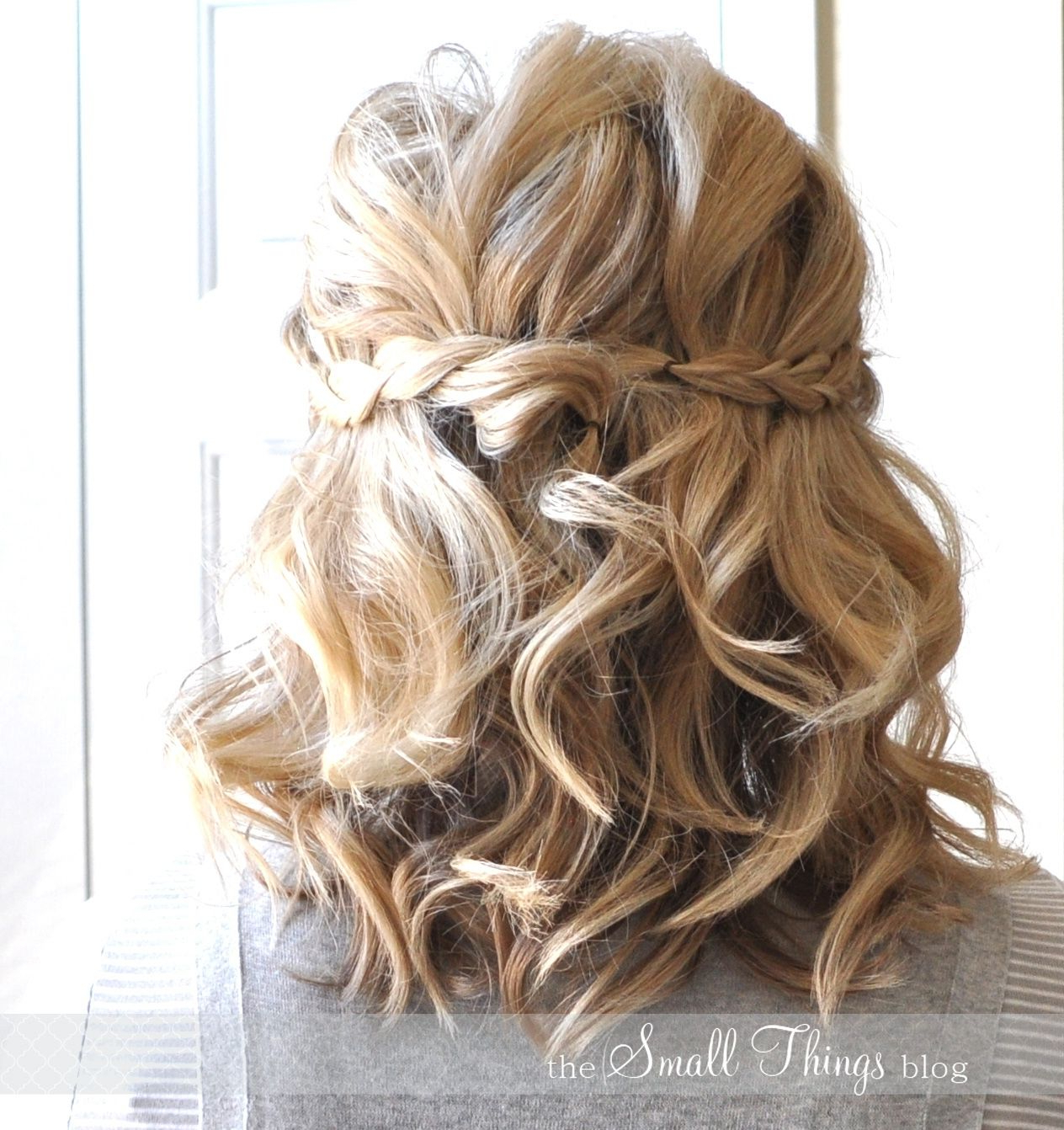 Wedding Hair Half Up Half Down Short Hair 1264 X 1342 Half Up Half With Trendy Medium Half Up Half Down Bridal Hairstyles With Fancy Knots (Gallery 2 of 20)