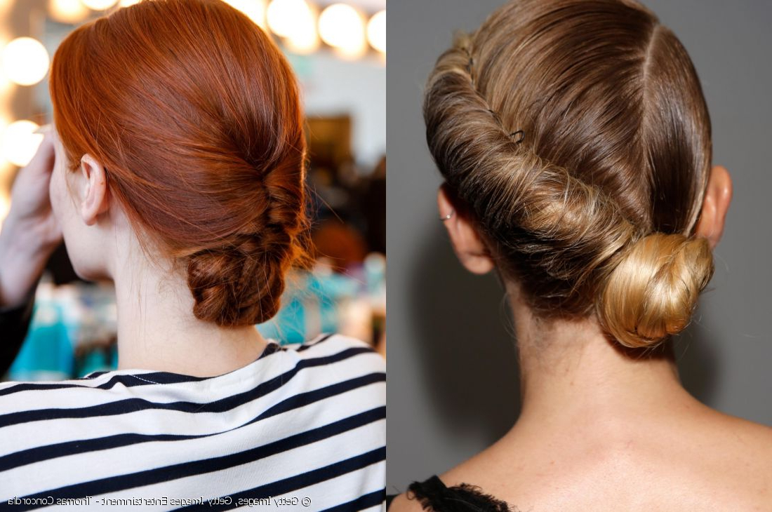 Wedding Hair: Twisted Low Bun Vs (View 19 of 20)