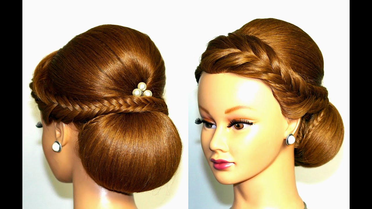 Wedding Hairstyle For Medium Long Hair, Elegant Updo (View 18 of 20)