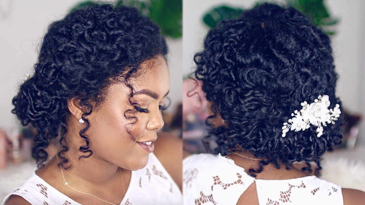 Wedding Hairstyle For Natural Curly Hair – Youtube – Wedding With Well Known Naturally Curly Wedding Hairstyles (Gallery 16 of 20)