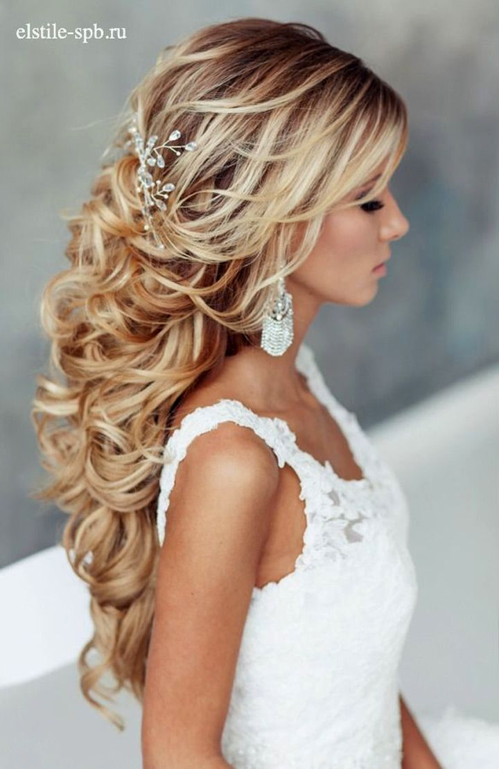 Wedding Hairstyle : Half Up Down Do Braid Curls Wedding Hairstyles For Preferred Side Curls Bridal Hairstyles With Tiara And Lace Veil (View 15 of 20)
