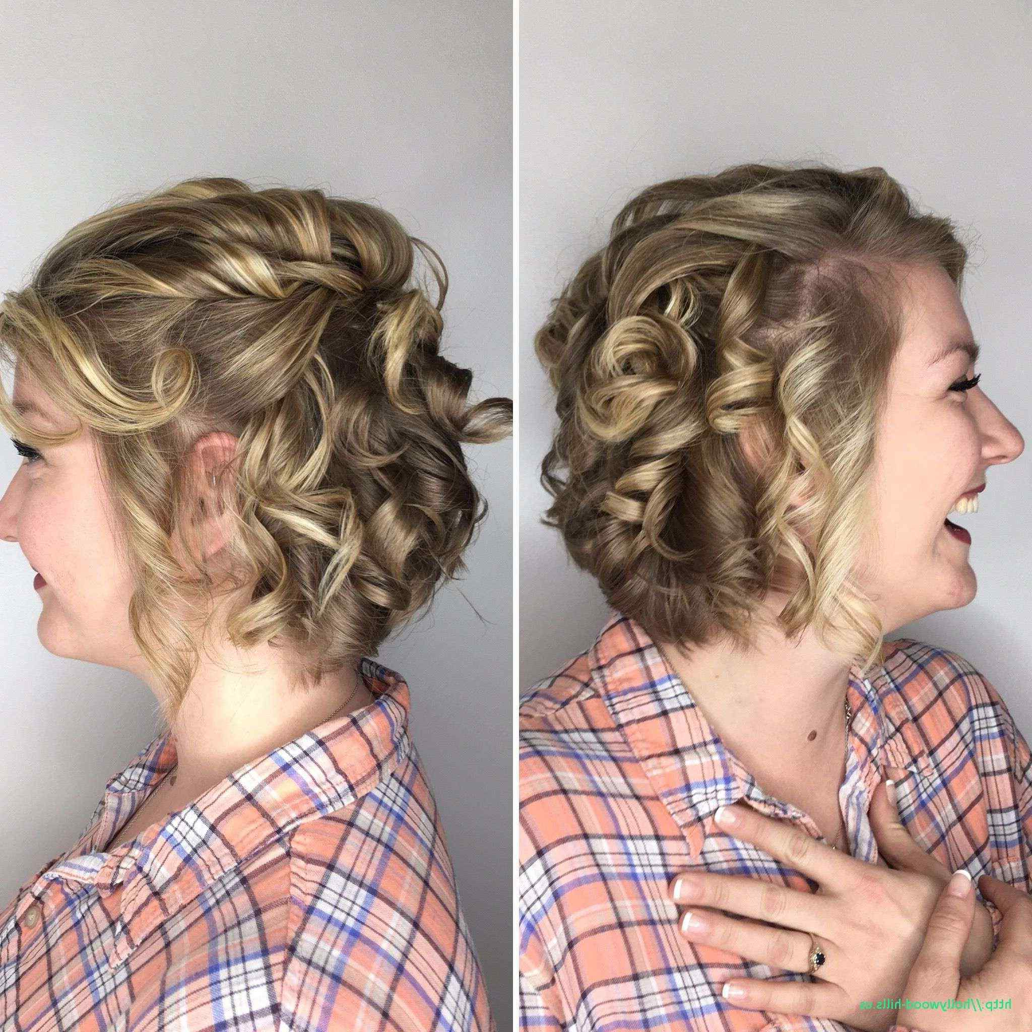 Wedding Hairstyles For Short Hair Bob Bridesmaid Curls Lovely Lovely Pertaining To 2017 Curly Wedding Updos For Short Hair (View 18 of 20)