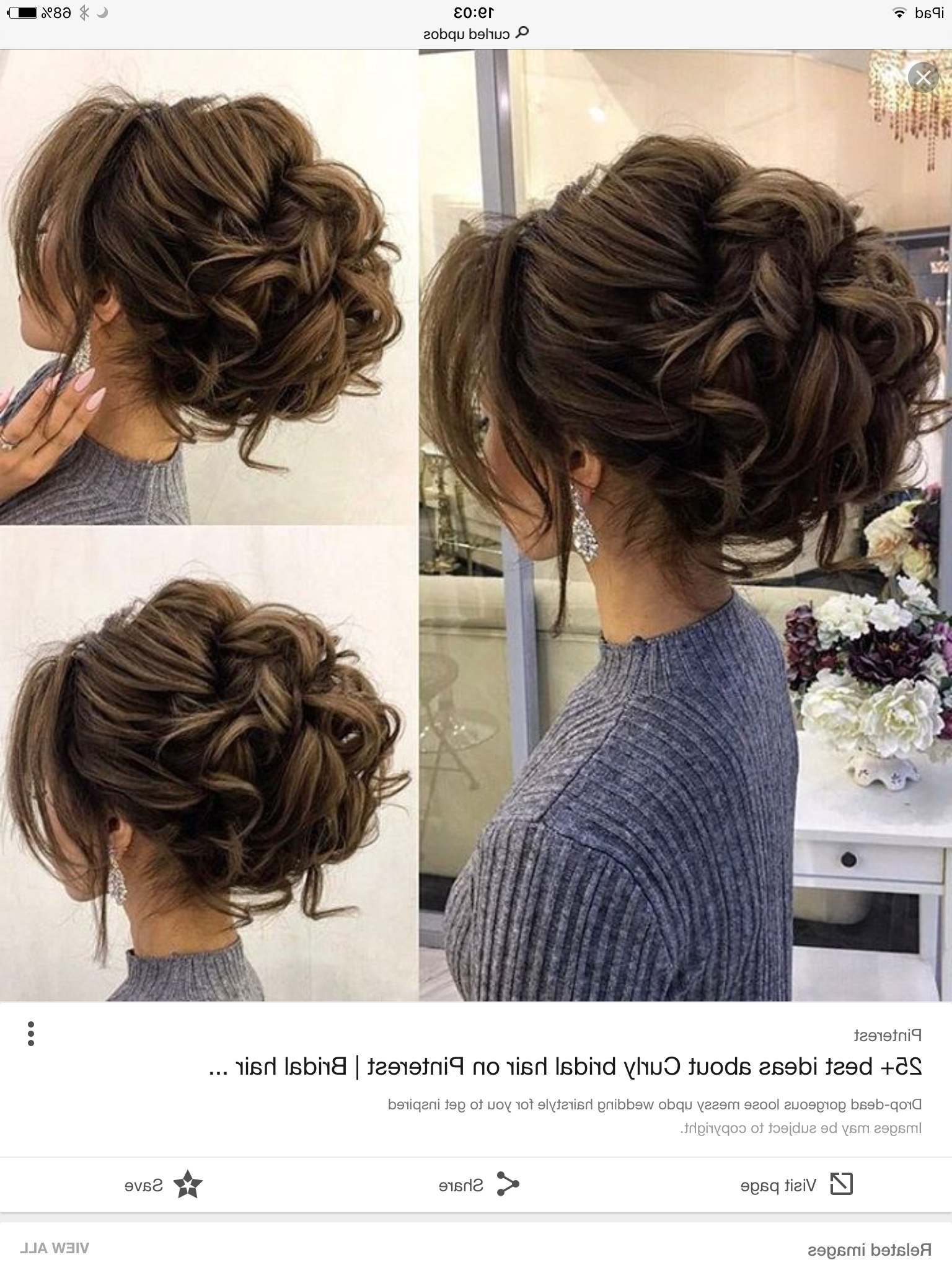 Wedding Hairstyles, Hair Within Well Liked Voluminous Curly Updo Hairstyles With Bangs (View 2 of 20)