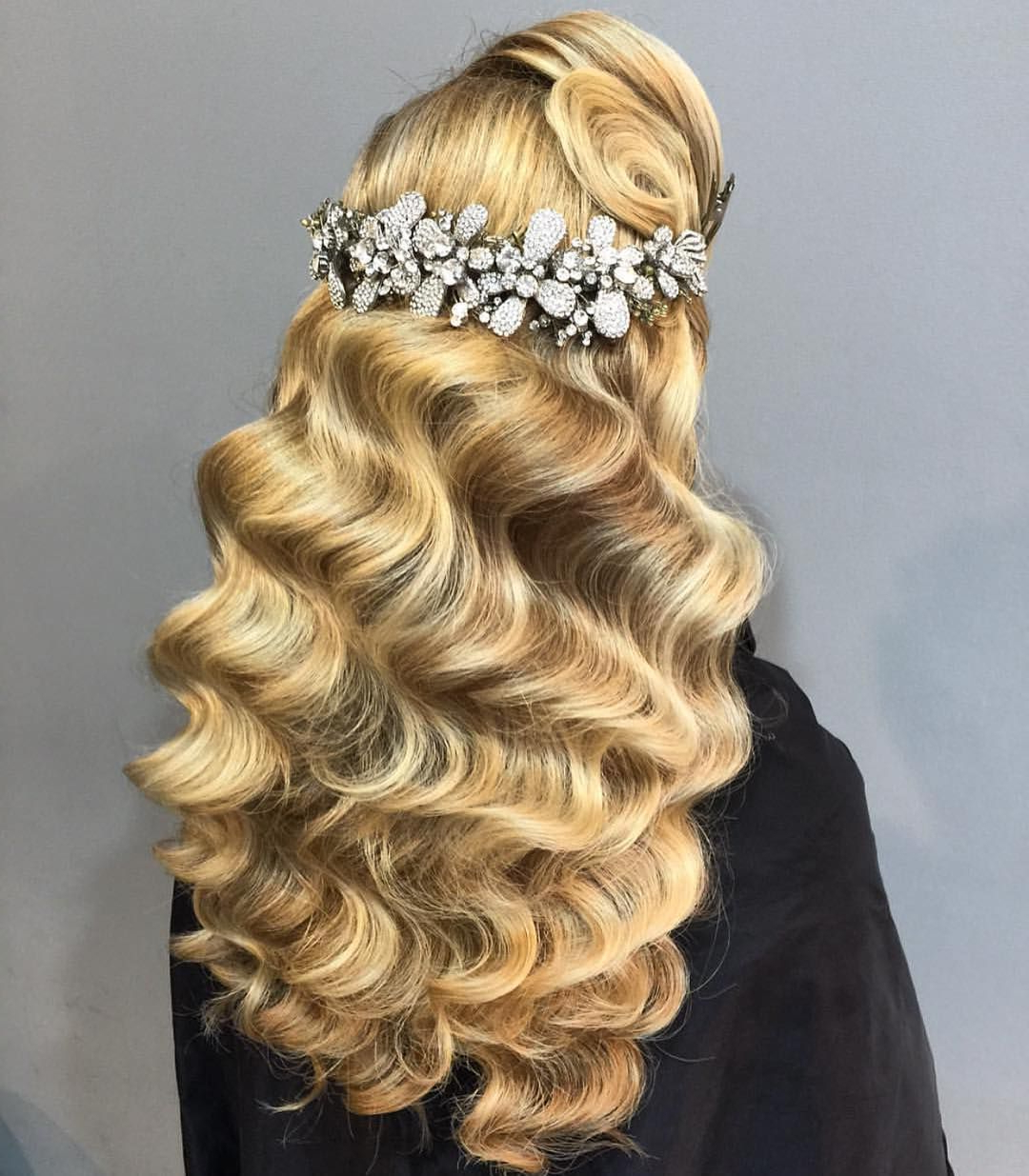 Wedding Hairstyles, Half Up Throughout Most Current Dimensional Waves In Half Up Wedding Hairstyles (View 6 of 20)