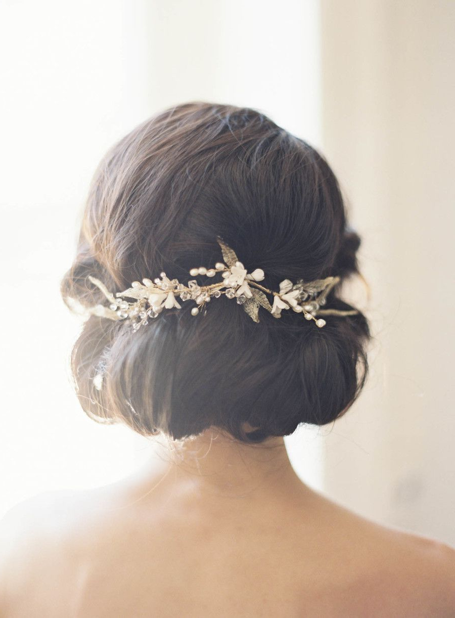 Wedding Hairstyles In Widely Used Pinned Brunette Ribbons Bridal Hairstyles (View 5 of 20)
