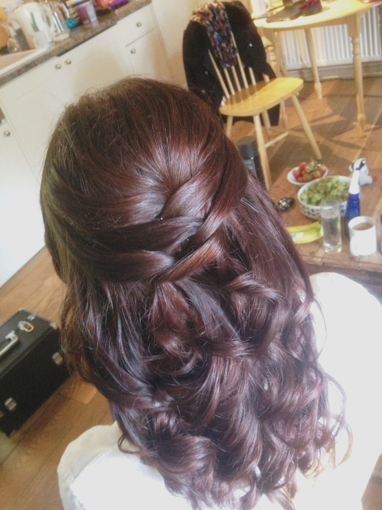 Wedding Hairstyles : Simple Wedding Hairstyles Half Up Short Hair For Current Simple Halfdo Wedding Hairstyles For Short Hair (View 5 of 20)