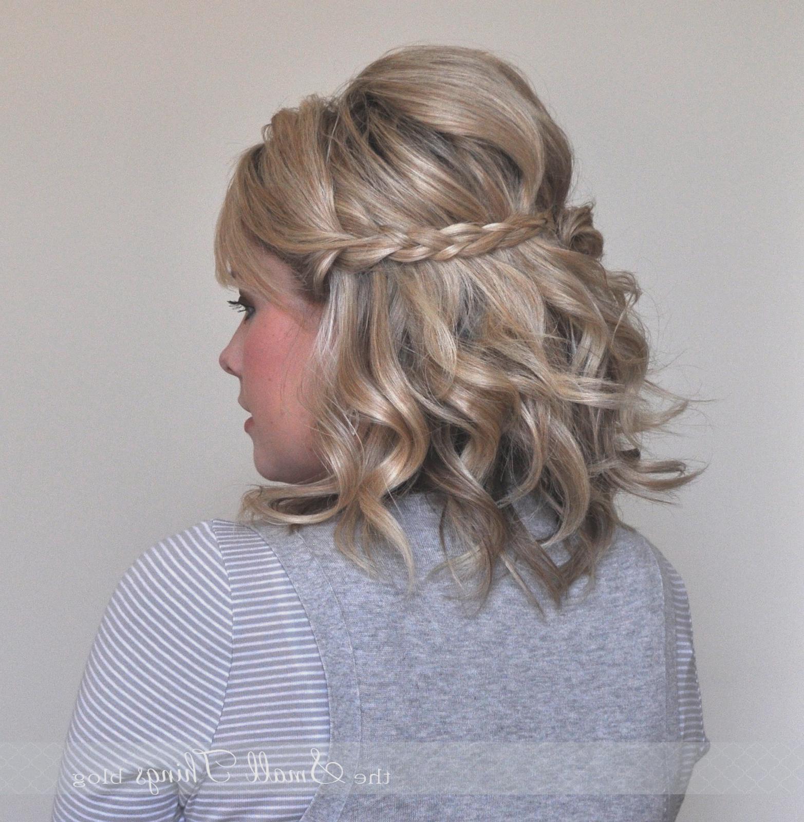 Wedding Hairstyles : Simple Wedding Hairstyles Half Up Short Hair Throughout Preferred Simple Halfdo Wedding Hairstyles For Short Hair (View 17 of 20)