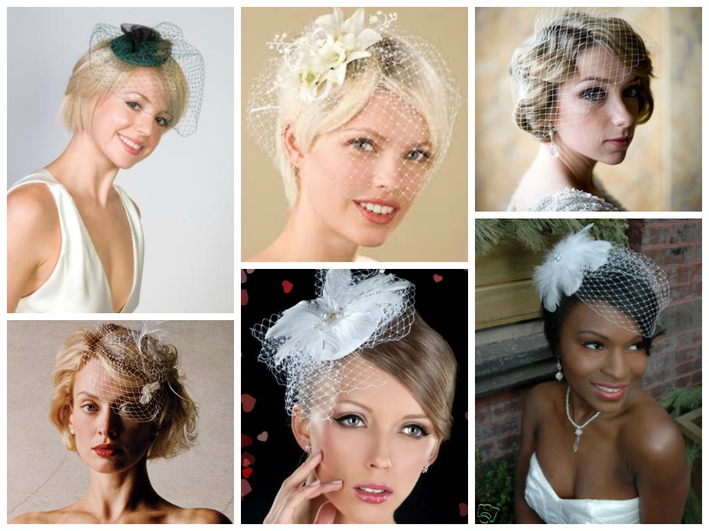 Wedding Hairstyles With A Birdcage Veil – Hair World Magazine Intended For Most Popular Short Wedding Hairstyles With Vintage Curls (Gallery 4 of 20)