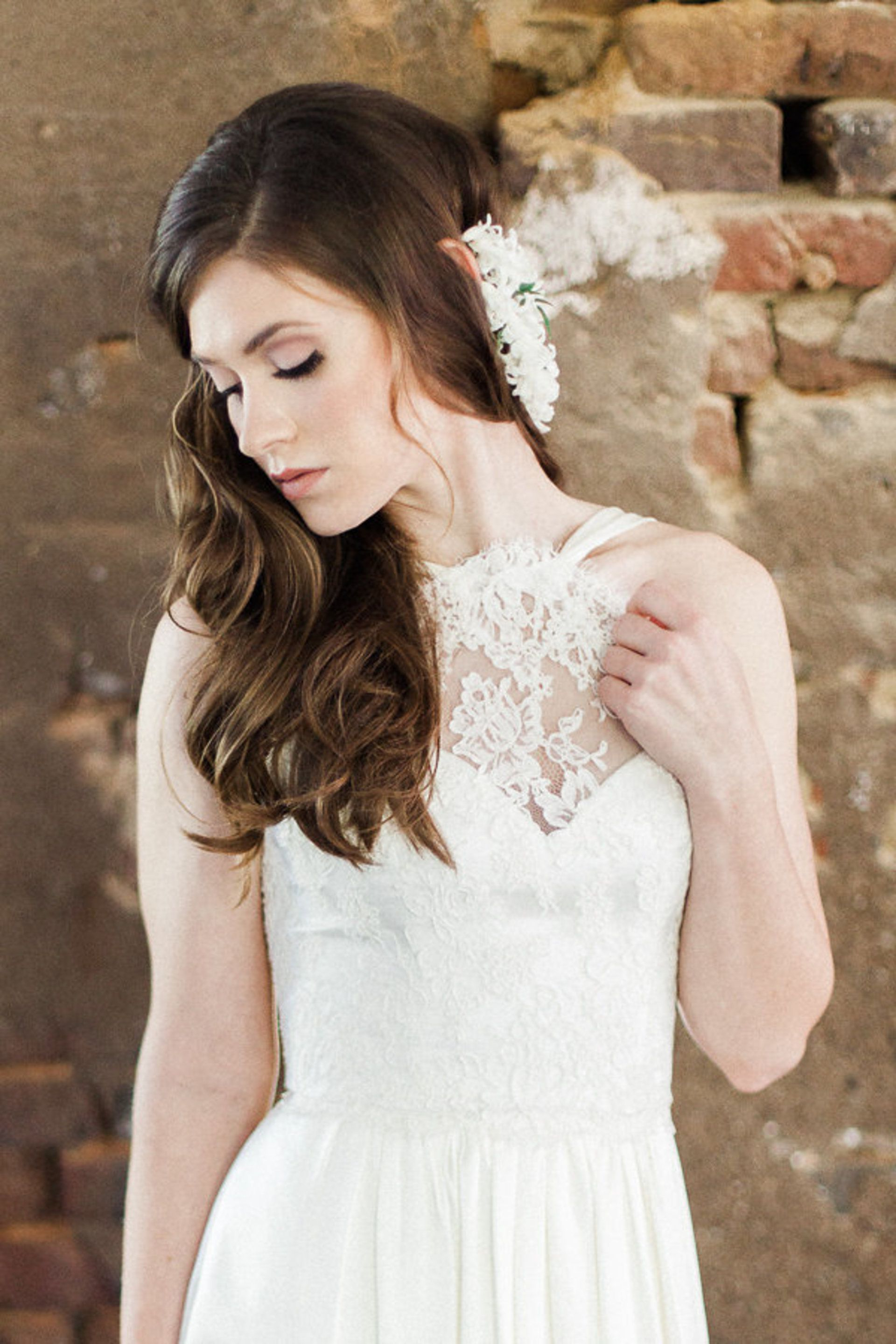Wedding In Current Curled Bridal Hairstyles With Tendrils (View 16 of 20)