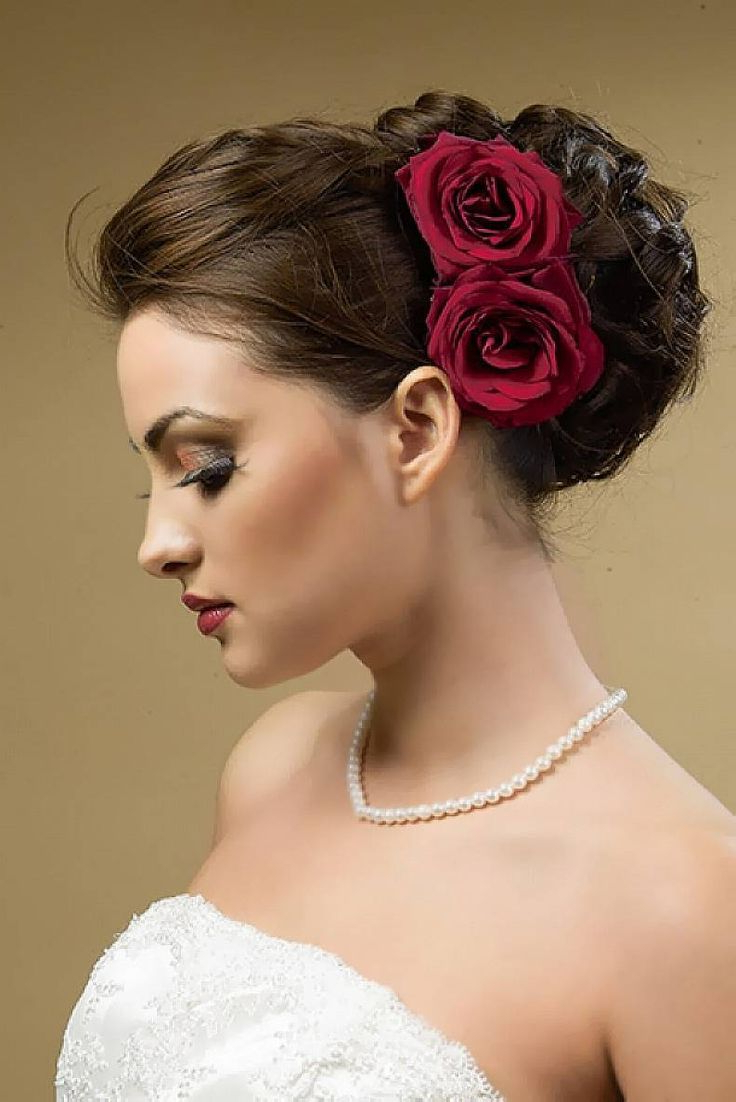 Wedding In Latest Large Curly Bun Bridal Hairstyles With Beaded Clip (Gallery 3 of 20)