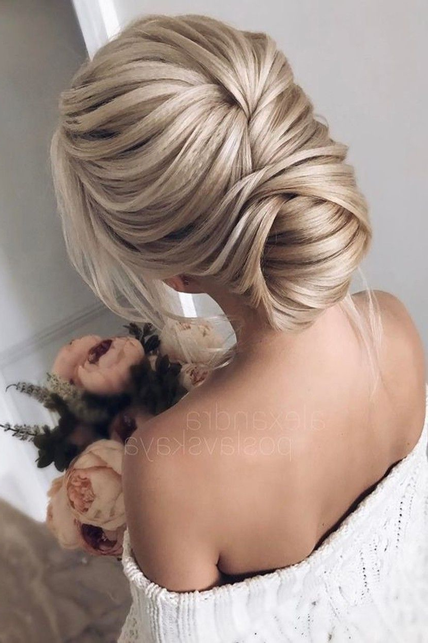 Wedding Regarding Most Popular Destructed Messy Curly Bun Hairstyles For Wedding (View 18 of 20)