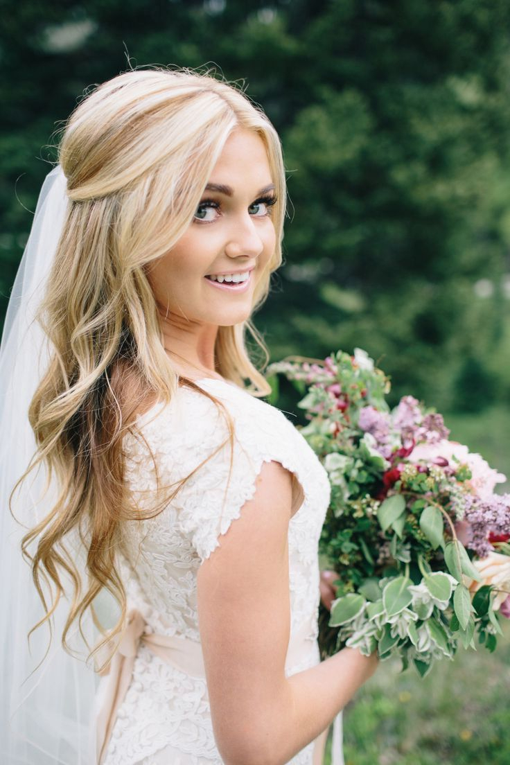 Wedding Throughout Popular Blonde Half Up Bridal Hairstyles With Veil (Gallery 1 of 20)