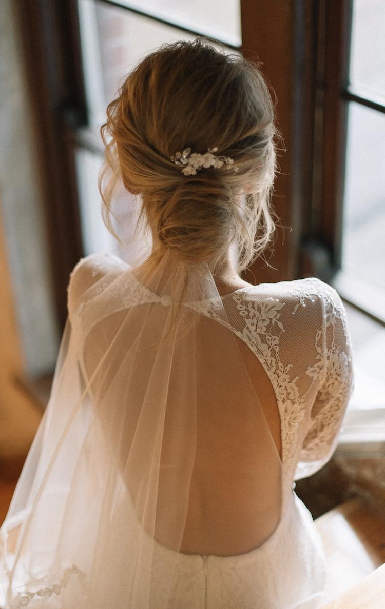 Wedding Veils Above Or Below The Bun (Gallery 18 of 20)