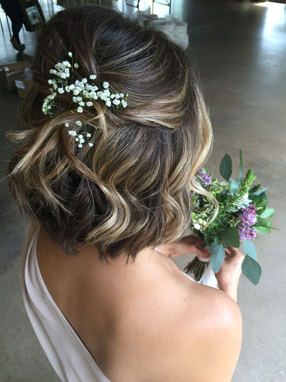Wedding With 2018 Curly Bob Bridal Hairdos With Side Twists (View 9 of 20)