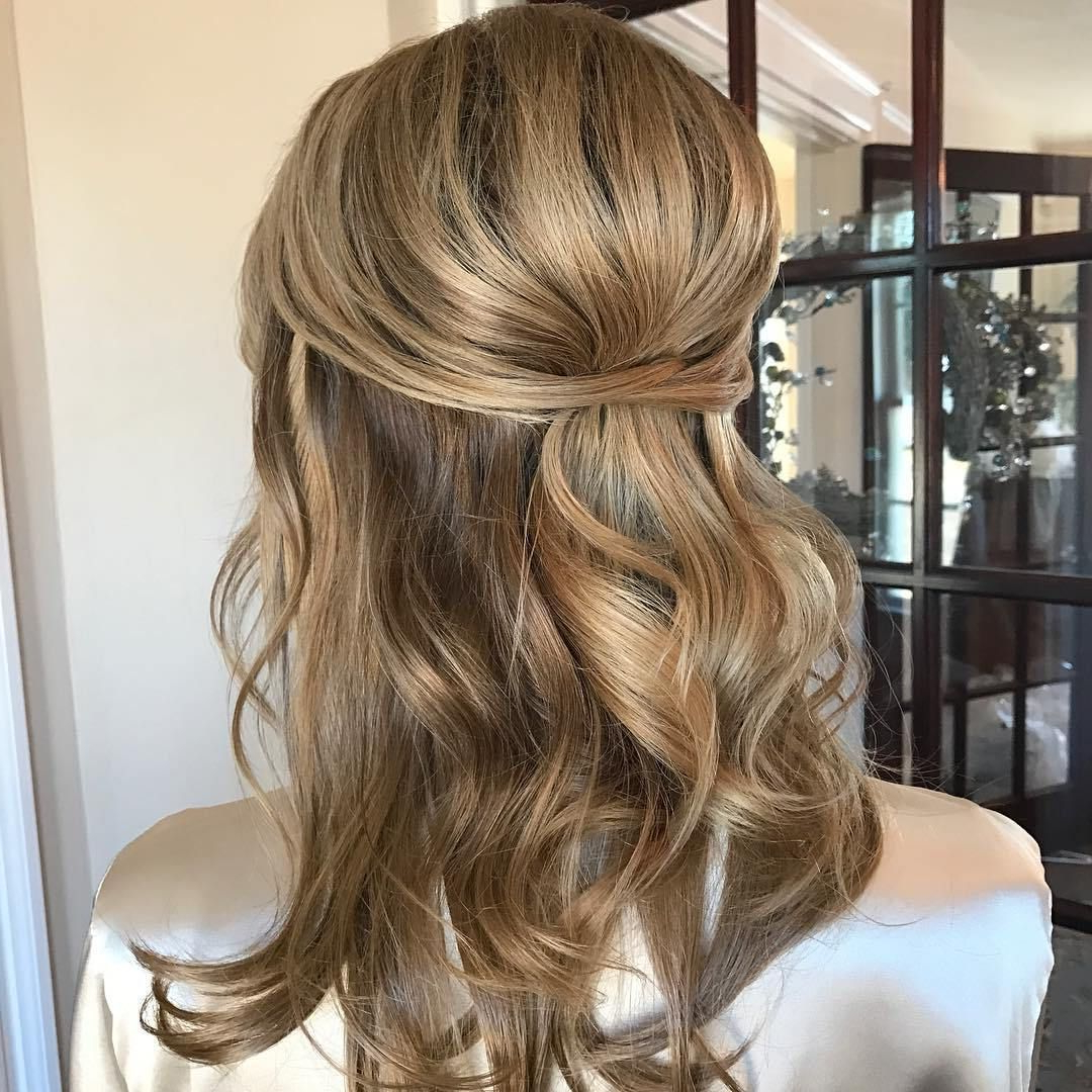Wedding Within Trendy Semi Bouffant Bridal Hairstyles With Long Bangs (Gallery 2 of 20)