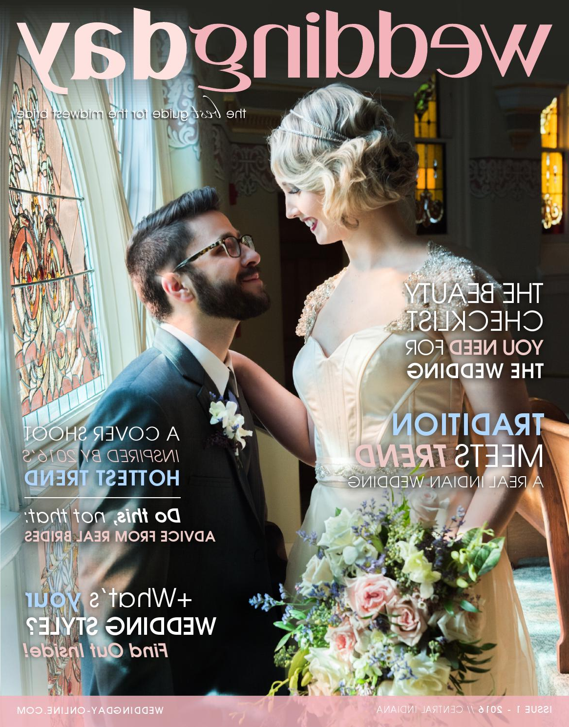 Weddingday Magazine – Central Indiana Issue 1 2016Life Events With Preferred Tender Shapely Curls Hairstyles For A Romantic Wedding Look (Gallery 12 of 20)