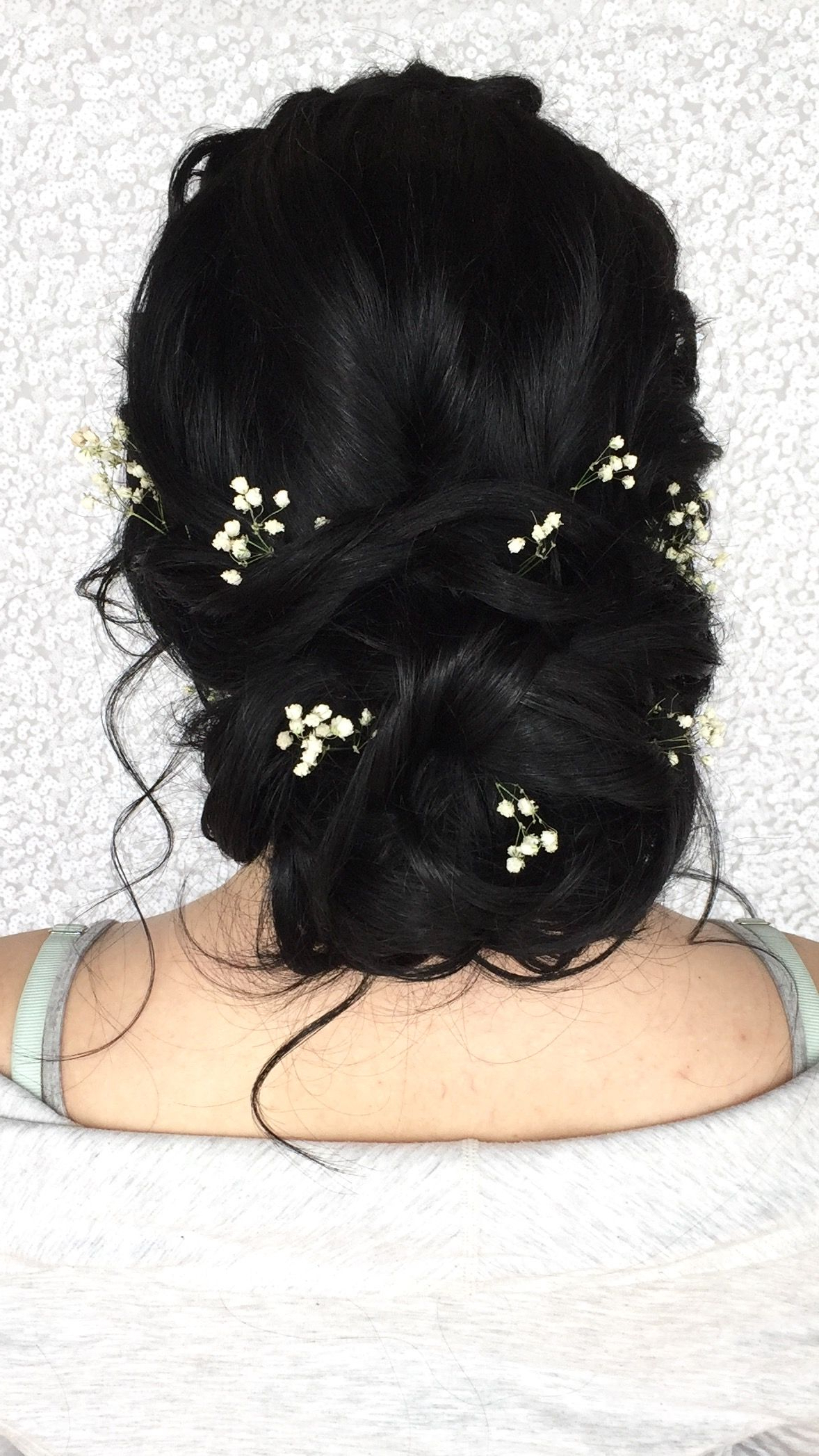 Weddings For Most Recent French Twist Wedding Updos With Babys Breath (Gallery 1 of 20)