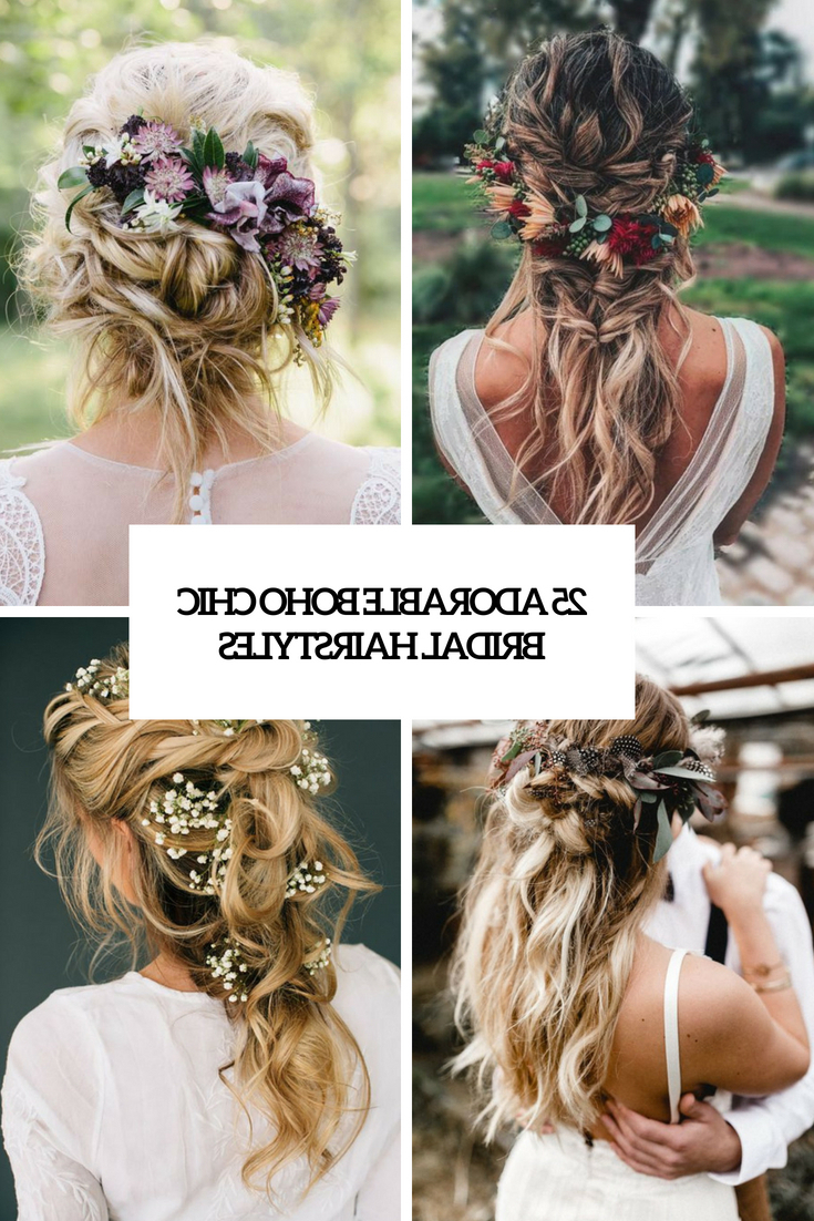 Well Known Braided Lavender Bridal Hairstyles For 25 Adorable Boho Chic Bridal Hairstyles – Weddingomania (View 18 of 20)