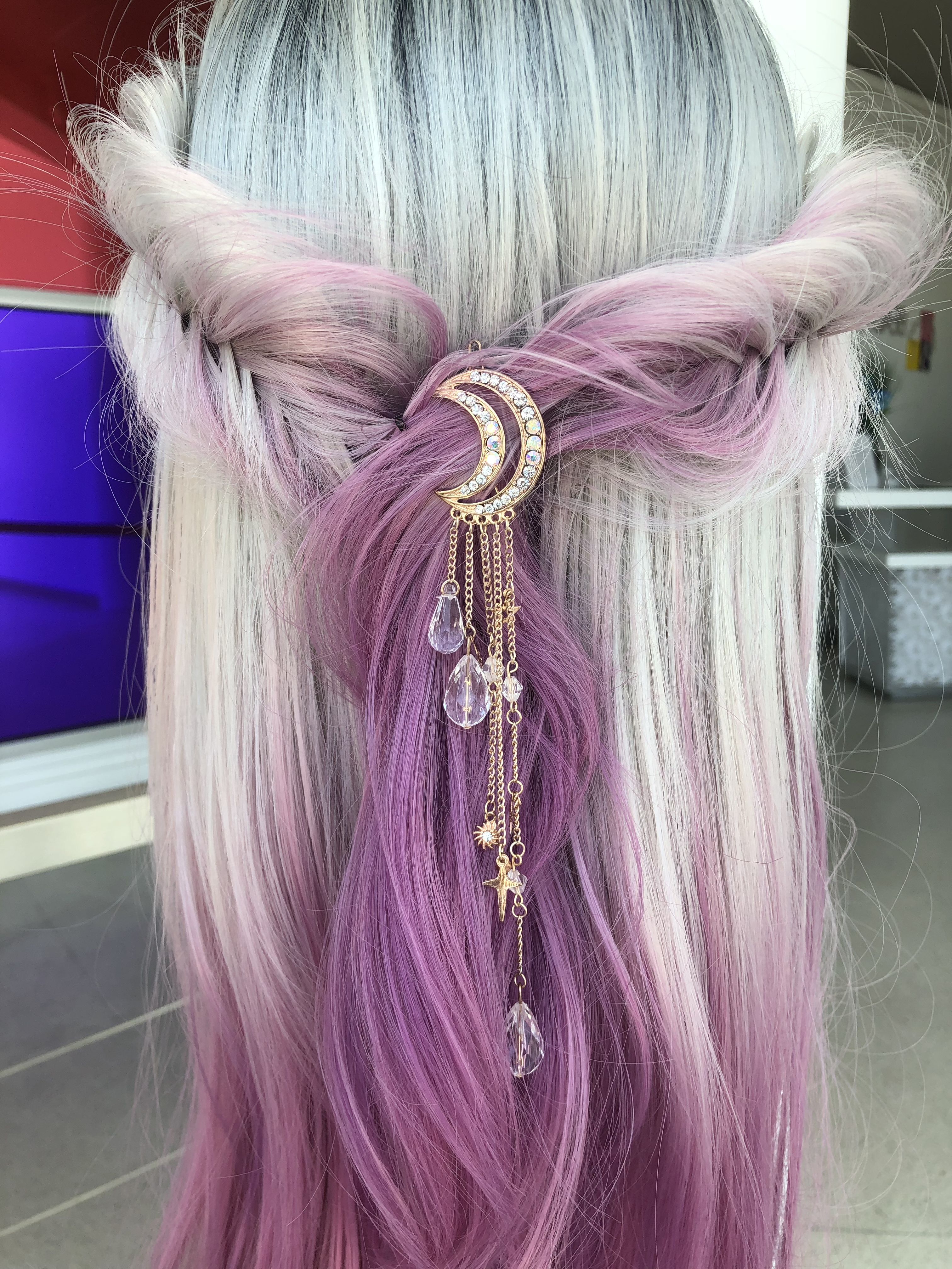 Well Known Braided Lavender Bridal Hairstyles With Regard To Purple Lavender Fishtail Braid Bridal Hairstyle@xodeirdrexo (Gallery 10 of 20)