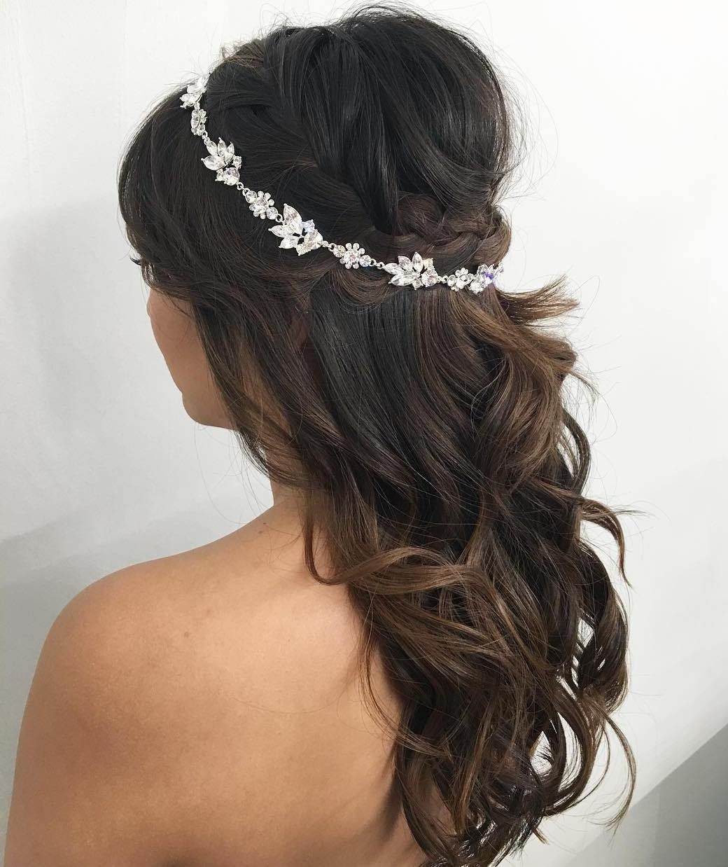 Well Known Crown Braid, Bouffant And Headpiece Bridal Hairstyles Intended For Half Up Half Down Wedding Hairstyles – 50 Stylish Ideas For Brides (View 2 of 20)