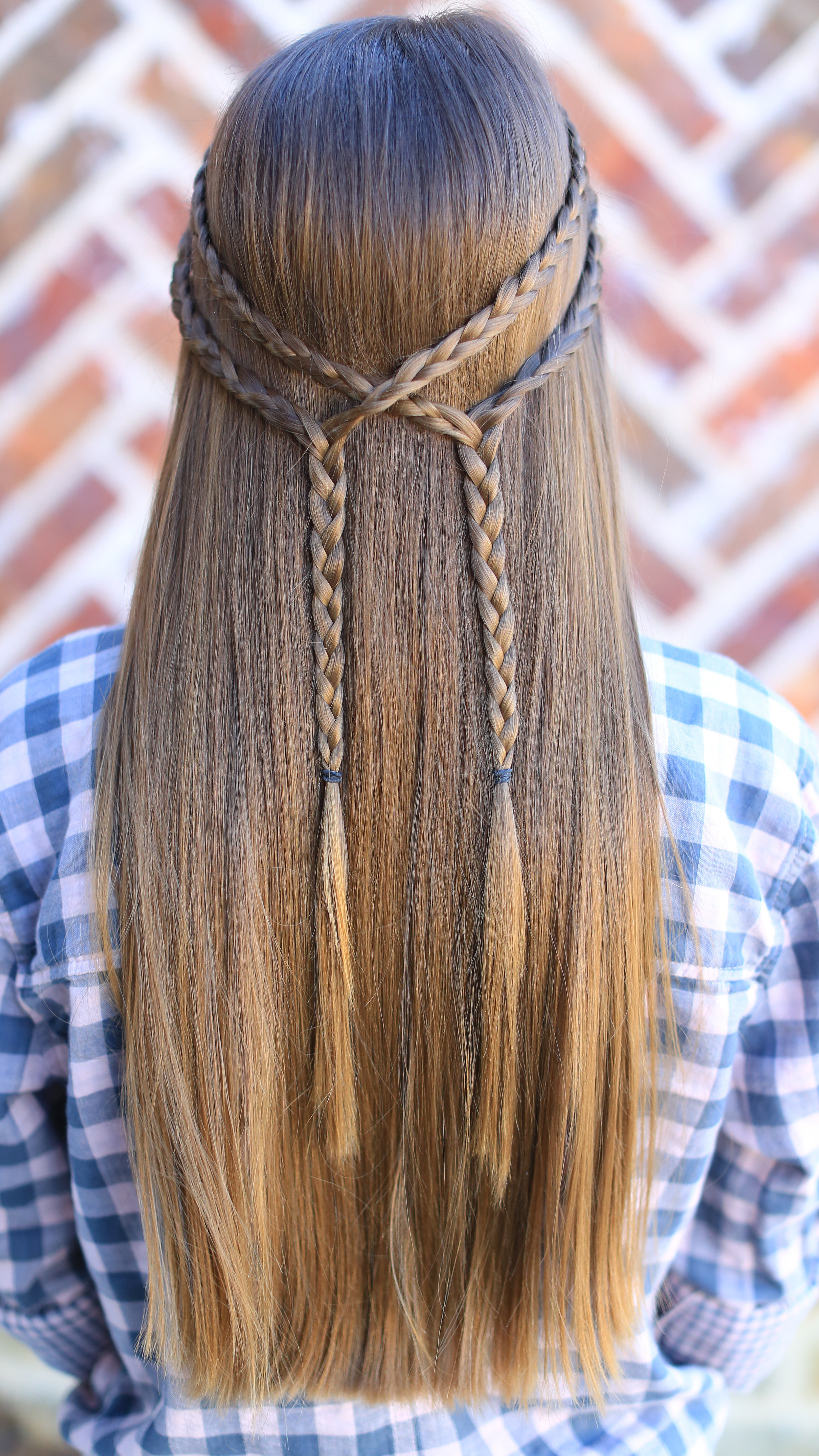 Well Known Double Braided Look Wedding Hairstyles For Straightened Hair Throughout Double Braid Tieback – Diy (View 18 of 20)