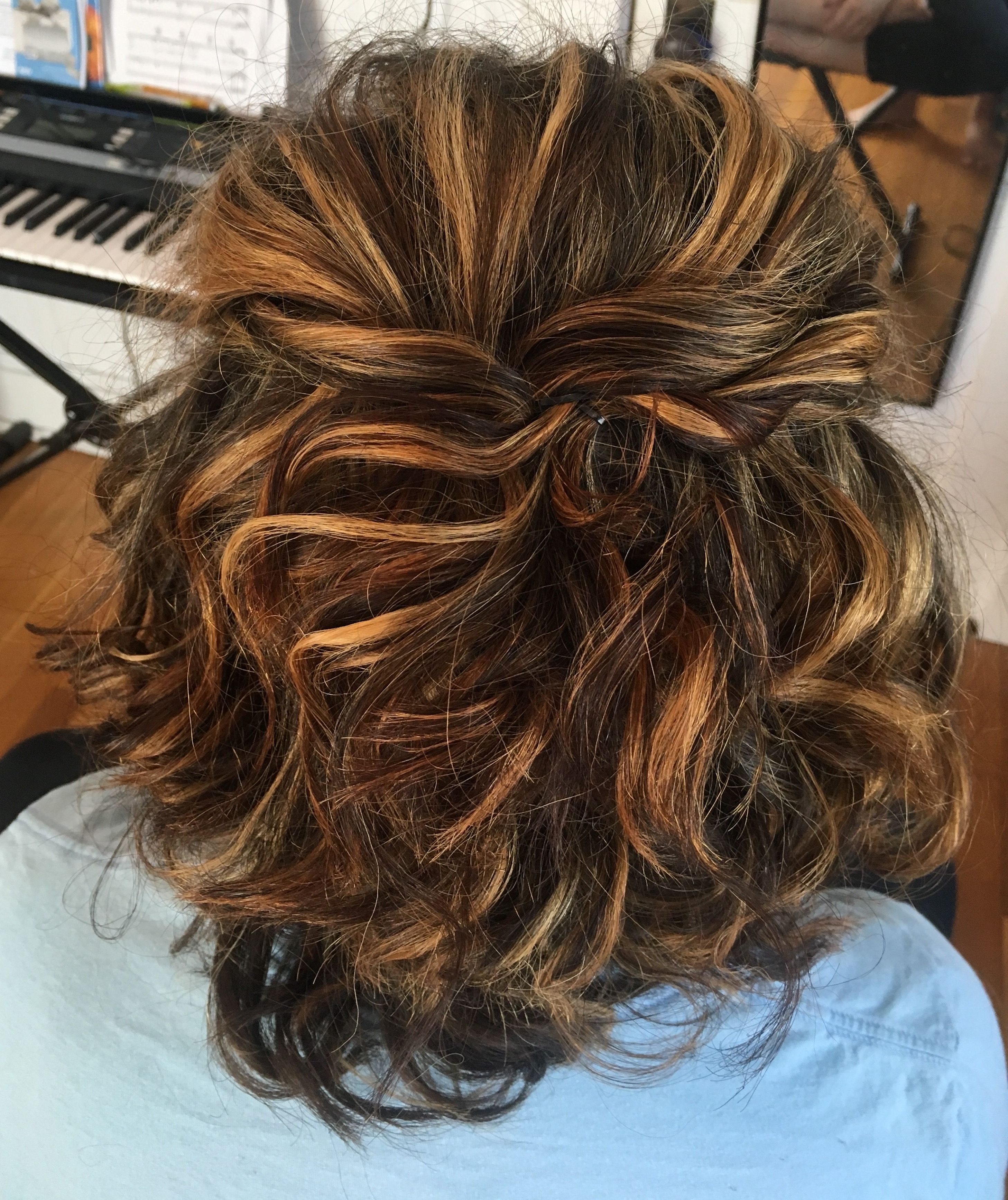 Featured Photo of Half Up Curly Hairstyles With Highlights