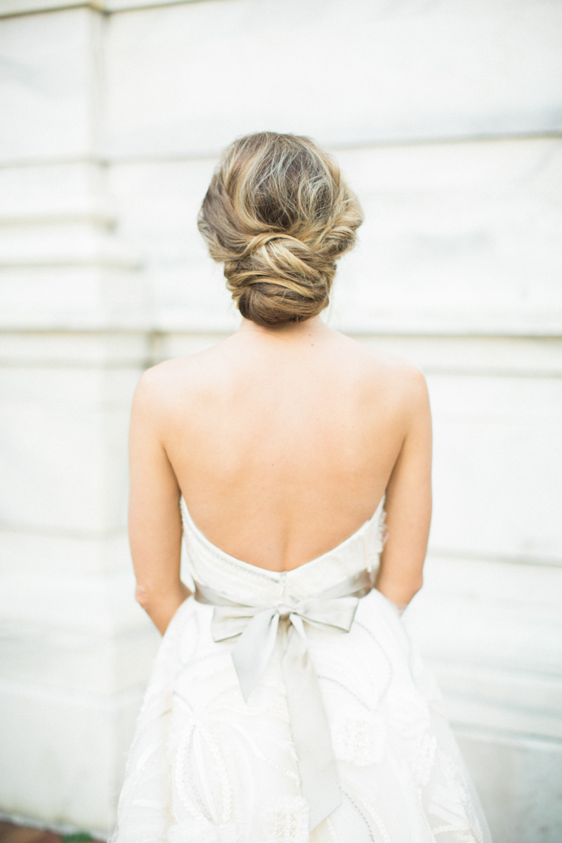 Well Known Messy Bridal Updo Bridal Hairstyles Pertaining To Messy Low Updo Wedding Bride Hairstyle – The Celebration Society (View 20 of 20)