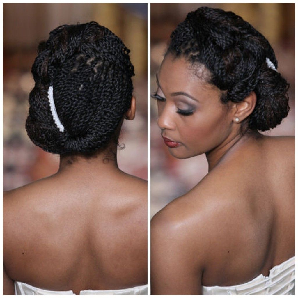Well Known Natural Looking Braided Hairstyles For Brides Regarding African American. Black Bride. Wedding Hair. Hairstyles. #braids (Gallery 1 of 20)