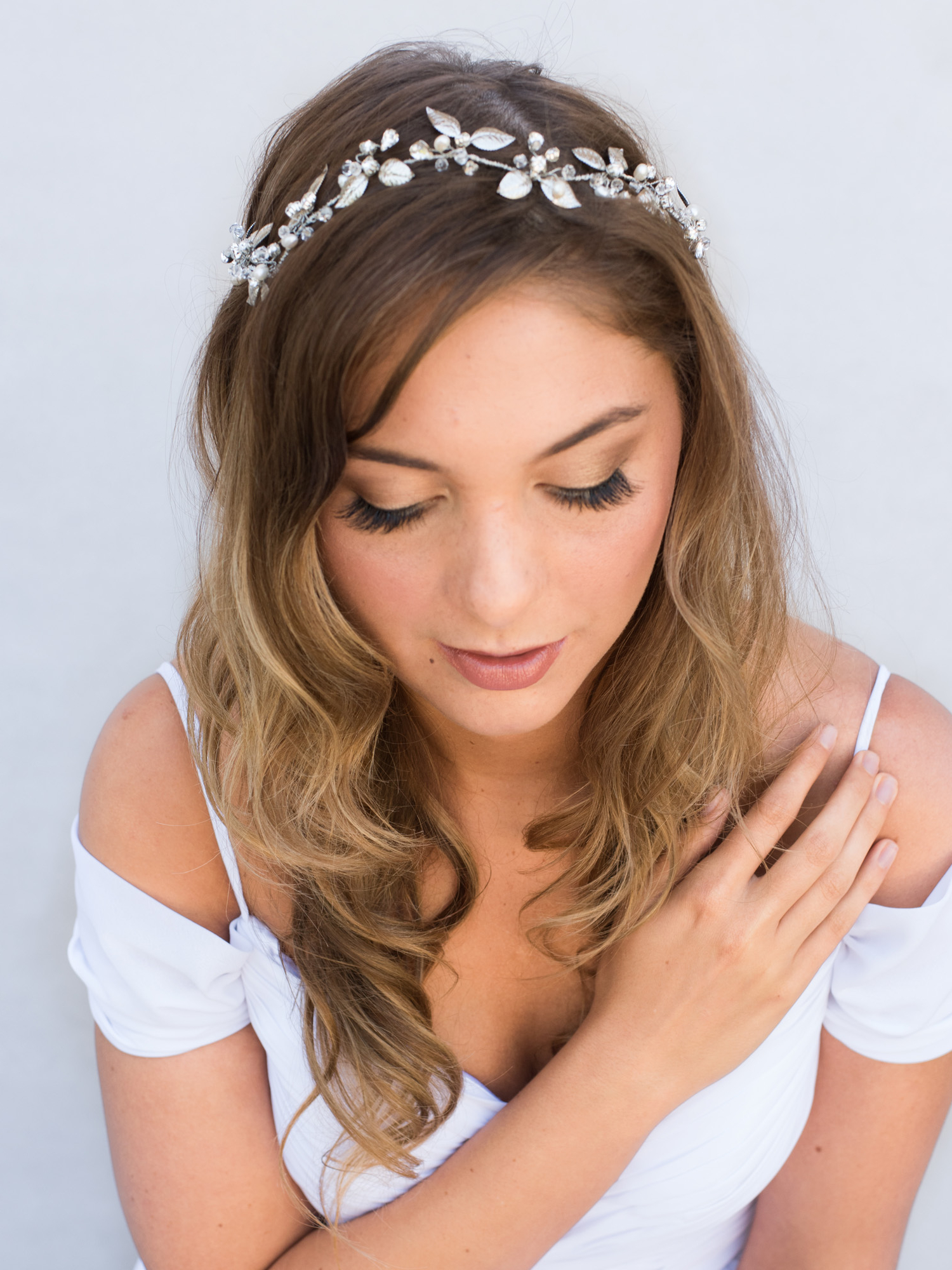 Well Known Side Curls Bridal Hairstyles With Tiara And Lace Veil Throughout Top 10 Tips For Choosing Your Bridal Hair Accessories – Hair Comes (View 20 of 20)