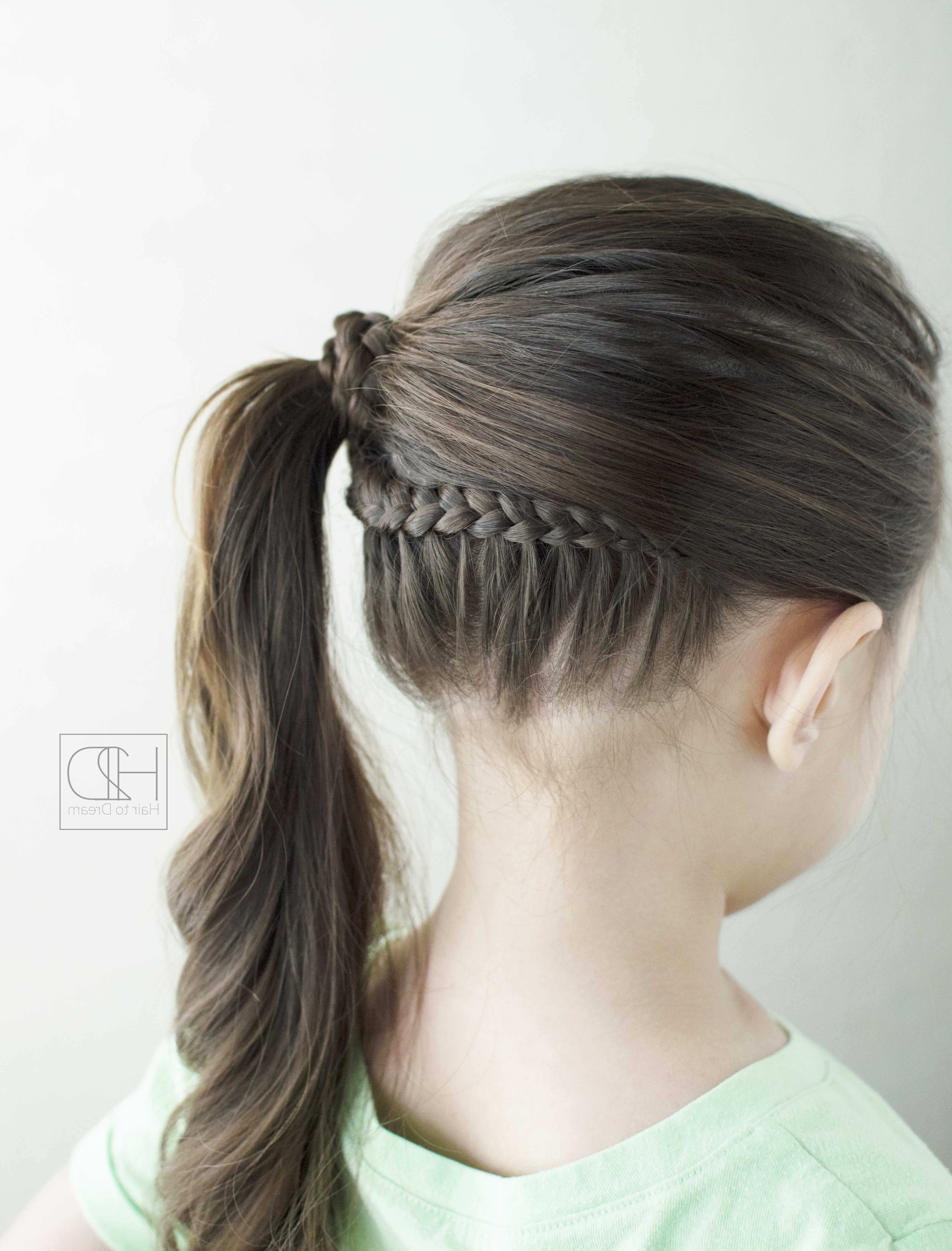 Well Known Side Lacy Braid Bridal Updos Within Here's A Lace Braid That Flows Into A Side Ponytail! Super Cute And (View 10 of 20)