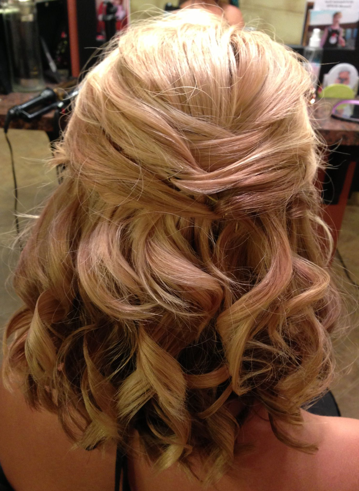 Well Known Wedding Semi Updo Bridal Hairstyles With Braid With Regard To 16 Pretty And Chic Updos For Medium Length Hair In (View 6 of 20)