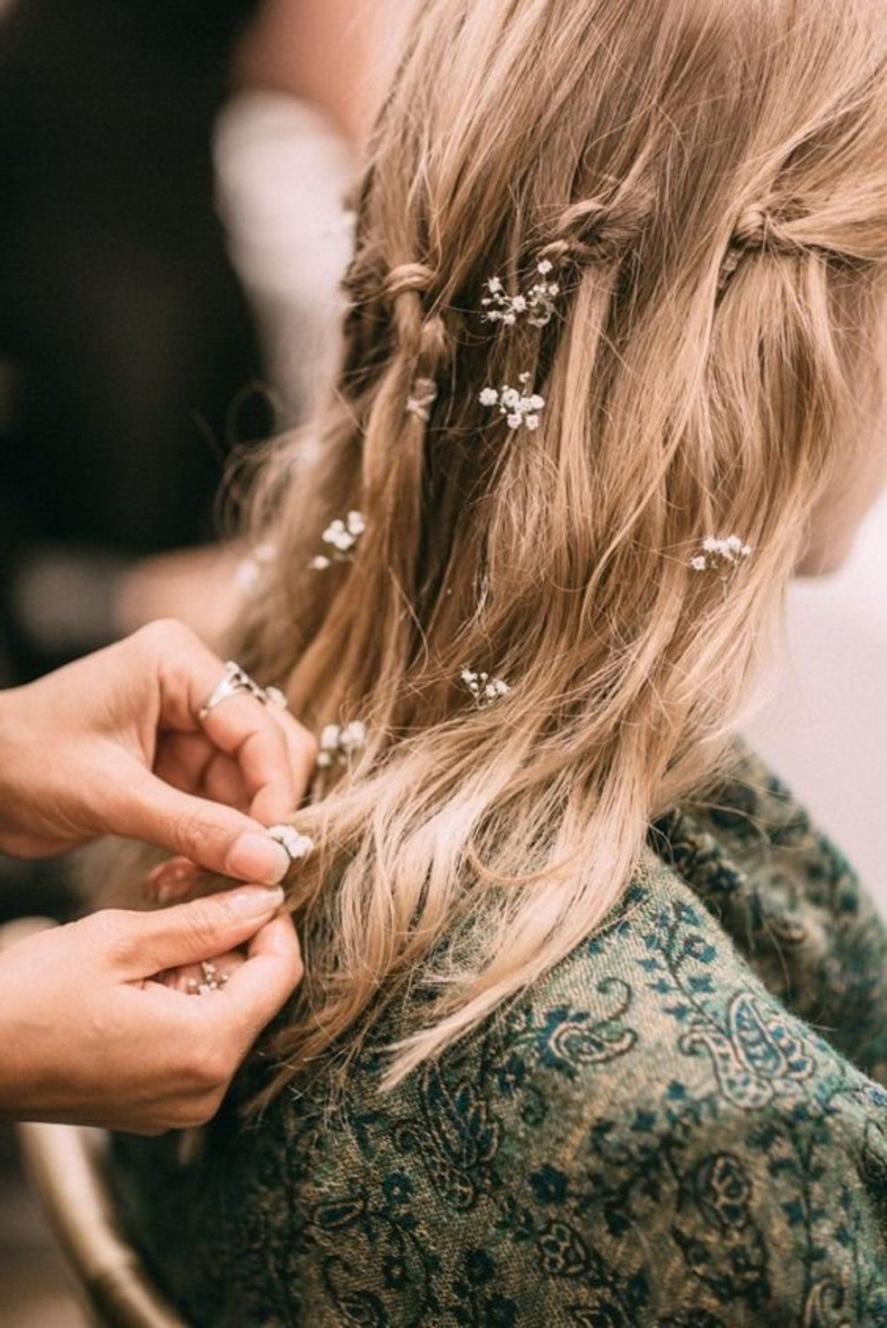 Well Known Wild Waves Bridal Hairstyles Pertaining To Simple And Stunning Ways To Wear Flowers In Your Hair (Gallery 15 of 20)