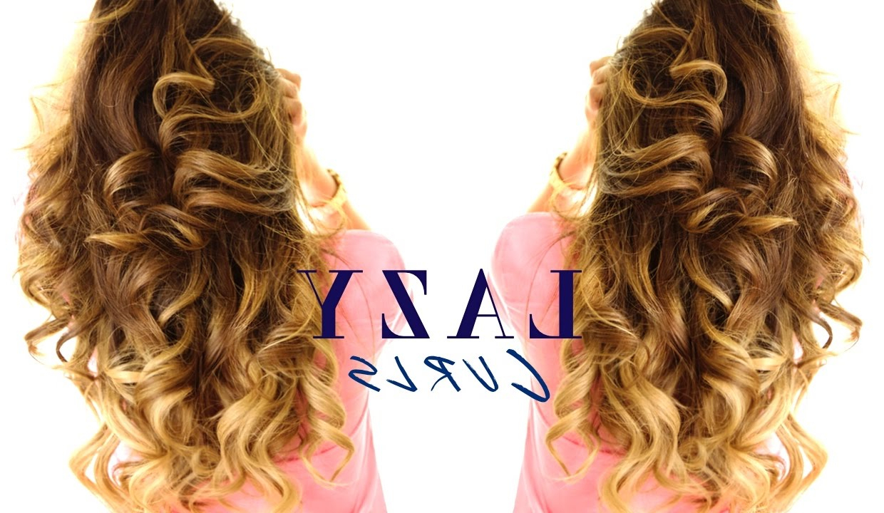 Well Liked Big And Fancy Curls Bridal Hairstyles Inside 5 Minute Lazy Curls ☆ Easy Waves Hairstyles – Youtube (Gallery 20 of 20)