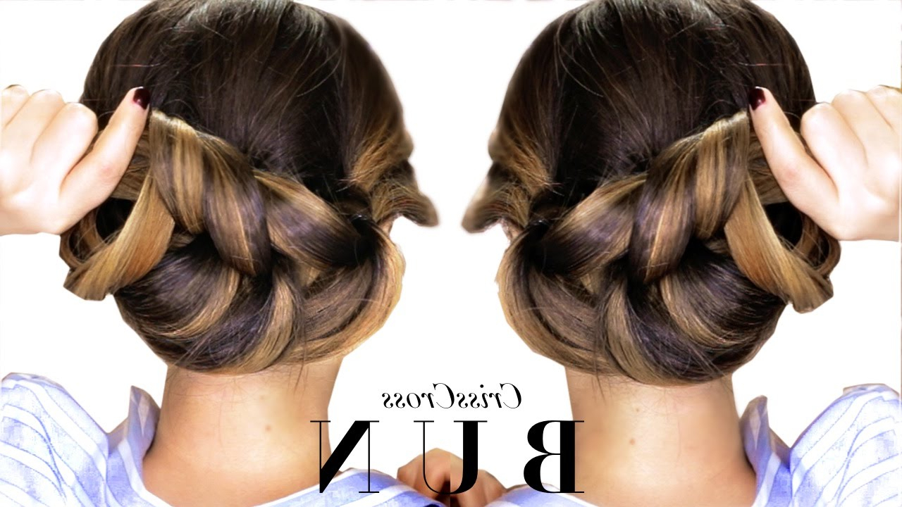 Well Liked Criss Cross Wedding Hairstyles Inside ☆ 3 Minute Elegant Bun Hairstyle Every Girl Doesn't Already Know (View 16 of 20)