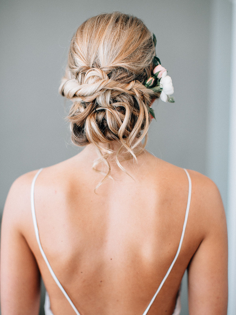 Well Liked Embellished Caramel Blonde Chignon Bridal Hairstyles Throughout 8 Updos That Have That Messy Yet Polished Look You Want (View 4 of 20)