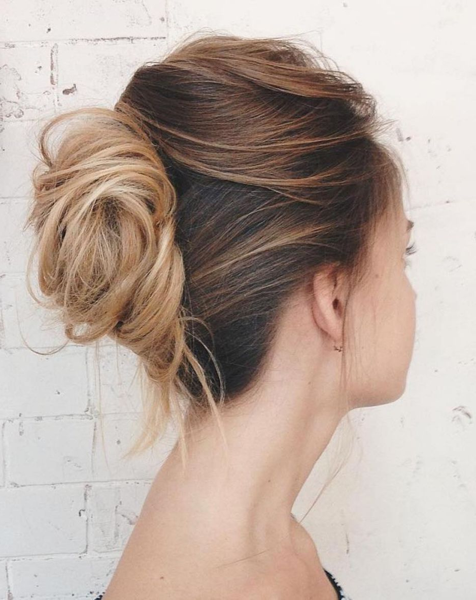 Well Liked Messy French Roll Bridal Hairstyles Regarding 60 Updos For Thin Hair That Score Maximum Style Point (View 14 of 20)