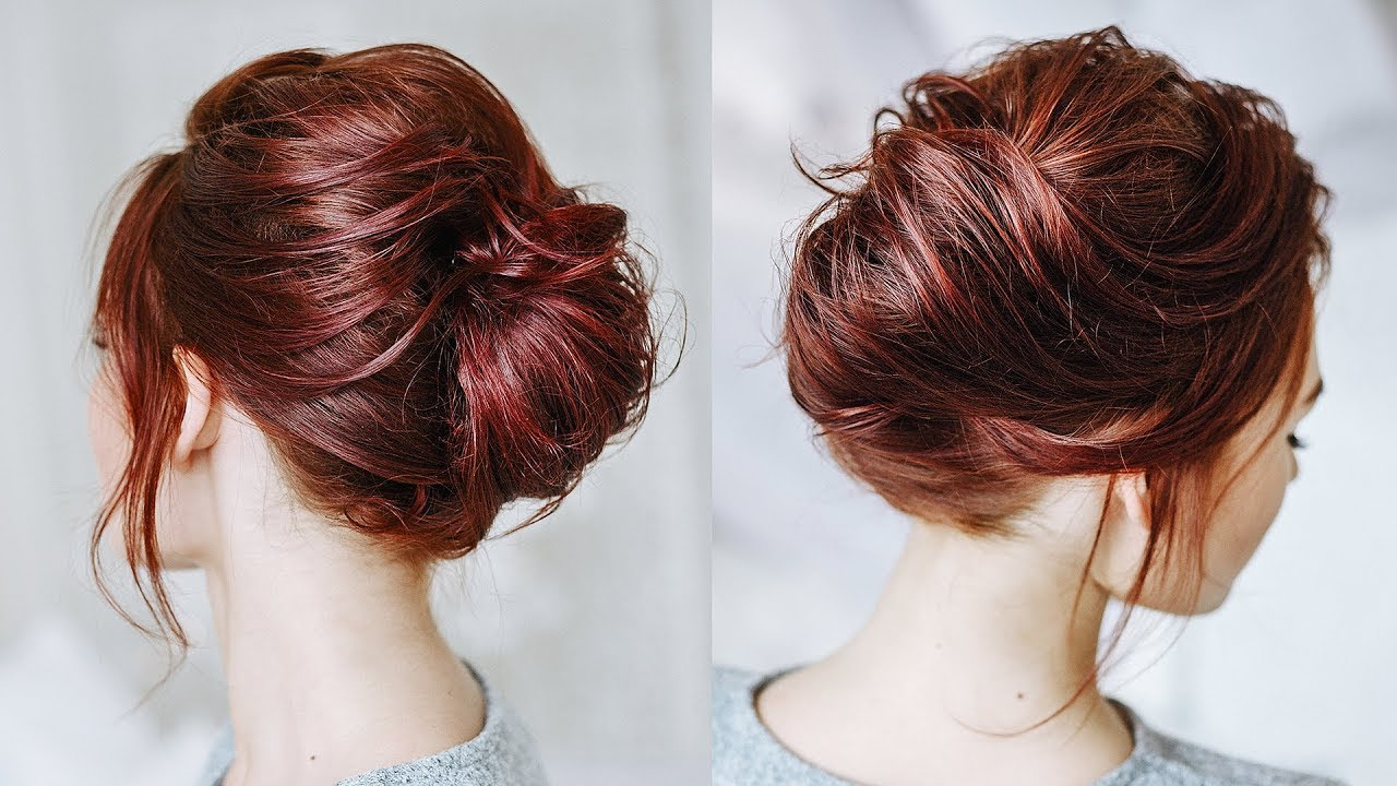 Well Liked Messy French Roll Bridal Hairstyles With Regard To Messy French Twist For Short Flat Hair – Youtube (Gallery 9 of 20)