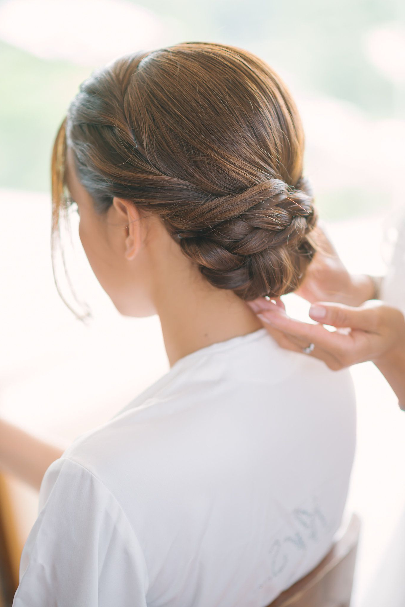 Were You Aware That Happily Ever After Starts On A Beach In Thailand Throughout Newest Chic And Sophisticated Chignon Hairstyles For Wedding (View 19 of 20)