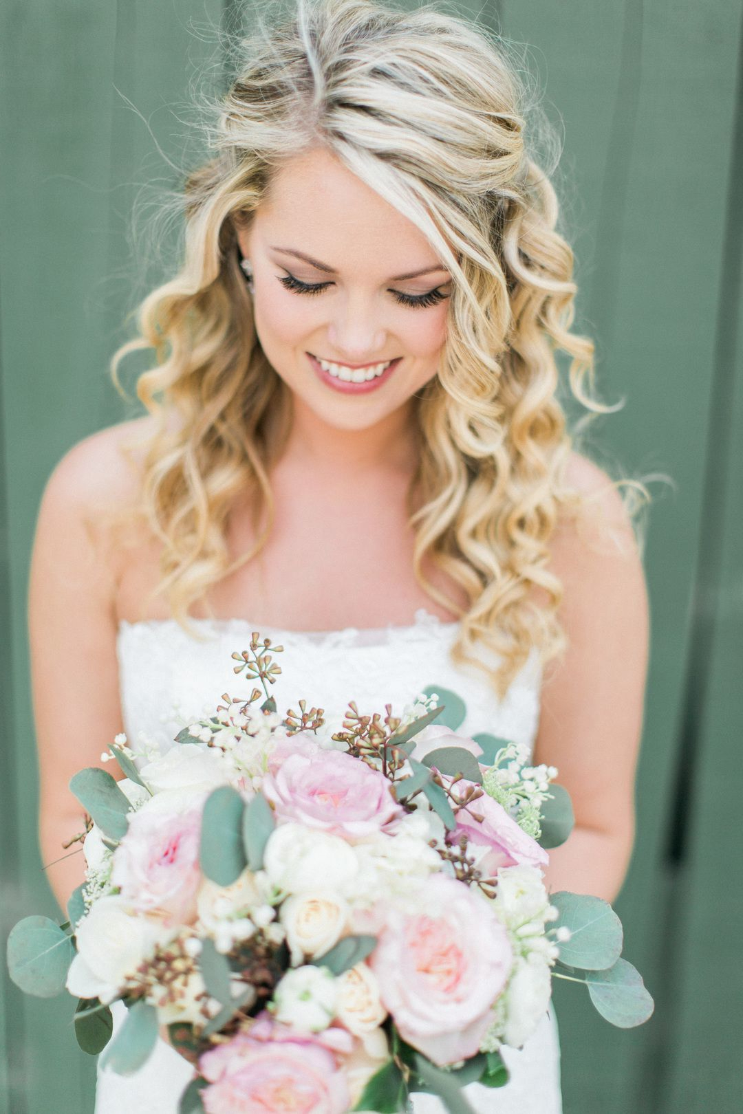 Featured Photo of Curled Bridal Hairstyles With Tendrils