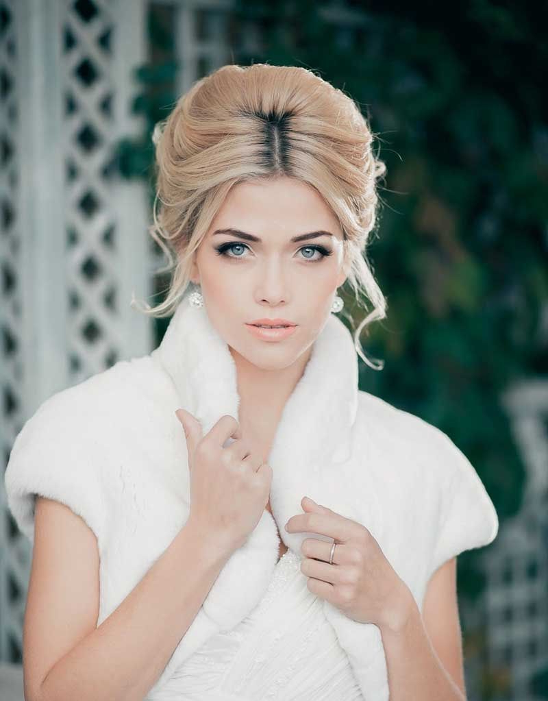 Widely Used Curly Wedding Updos With A Bouffant Throughout Bouffant Updo With Middle Parting Bridal Updo (View 20 of 20)