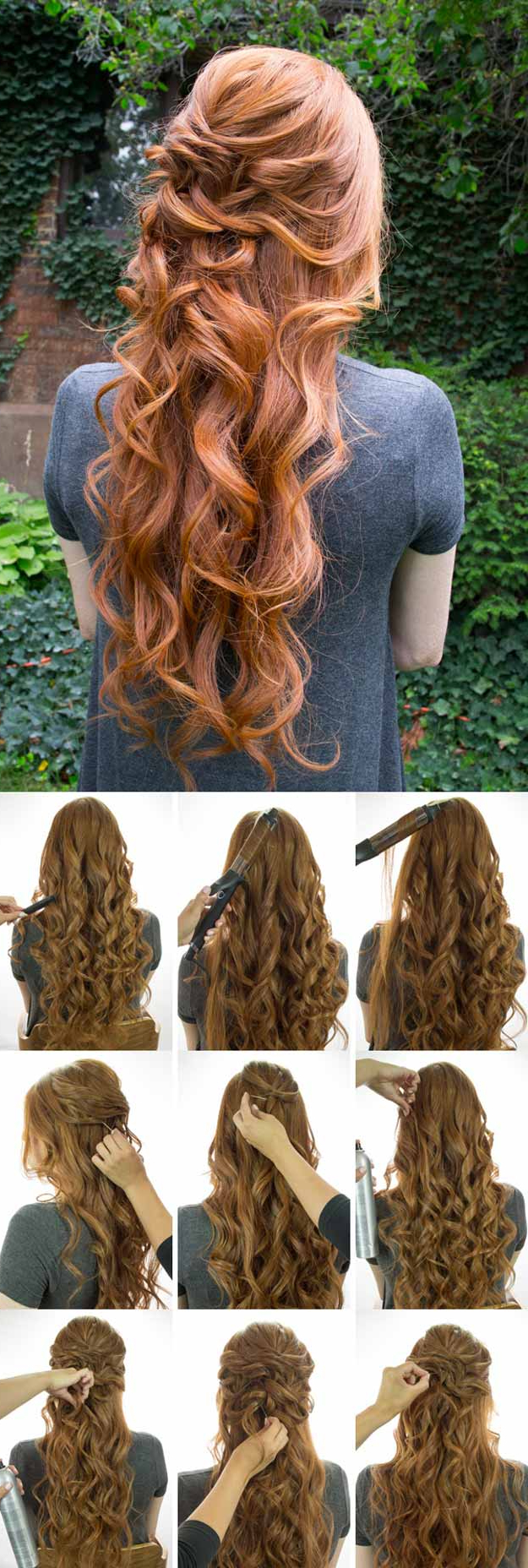 Widely Used Half Up Curls Hairstyles For Wedding Throughout 31 Wedding Hairstyles For Long Hair – The Goddess (View 18 of 20)
